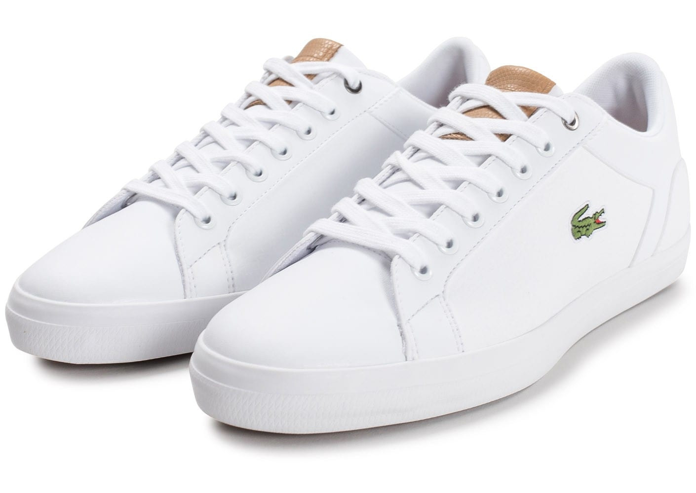 8ae0d3a93c Lacoste Lerond Leather blanche - Chaussures Baskets homme - Chausport