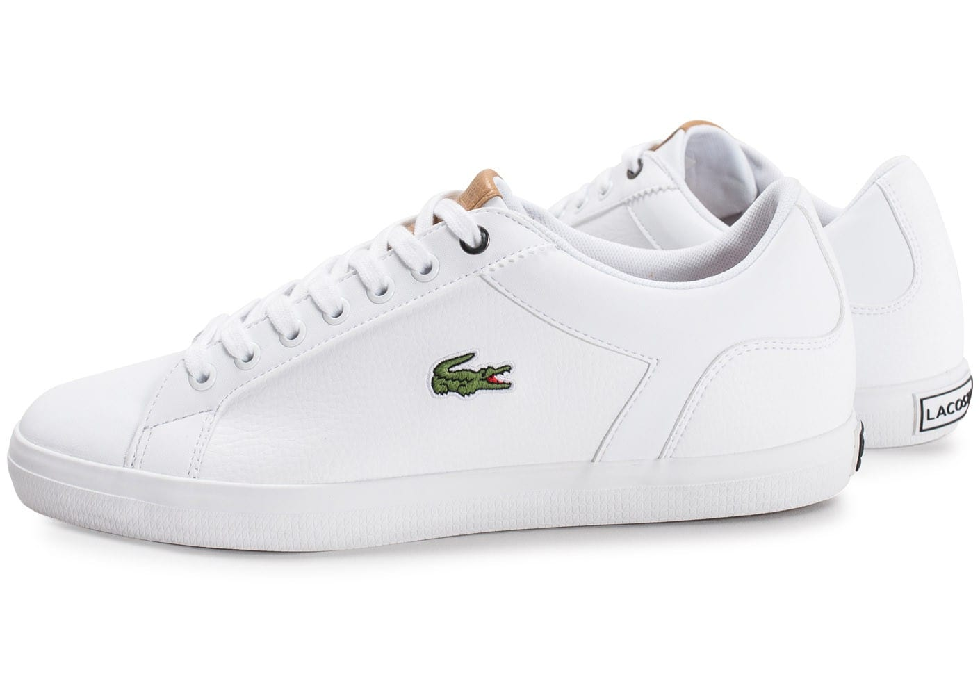 Lacoste Lerond Blanc - Chaussures Baskets basses Homme