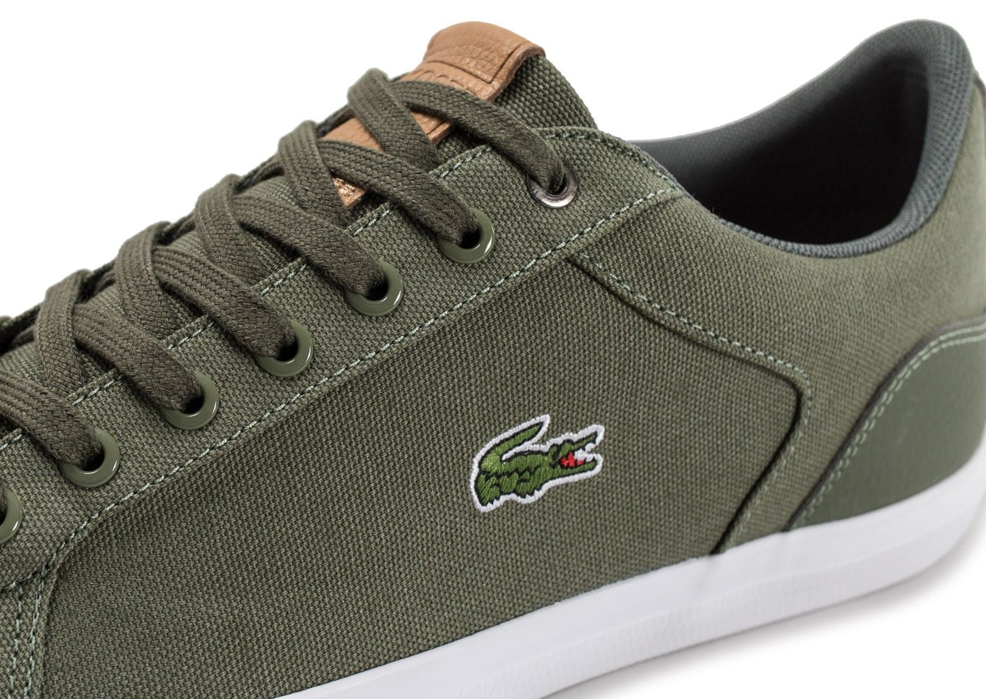 a9c813d796 Lerond Chaussures Homme Chausport Baskets Toile Kaki Lacoste O7d0xBB ...
