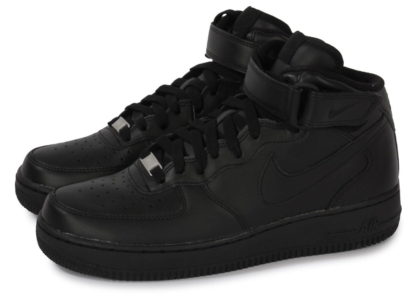 nike air force 1 mid 07 noire chaussures baskets homme chausport. Black Bedroom Furniture Sets. Home Design Ideas