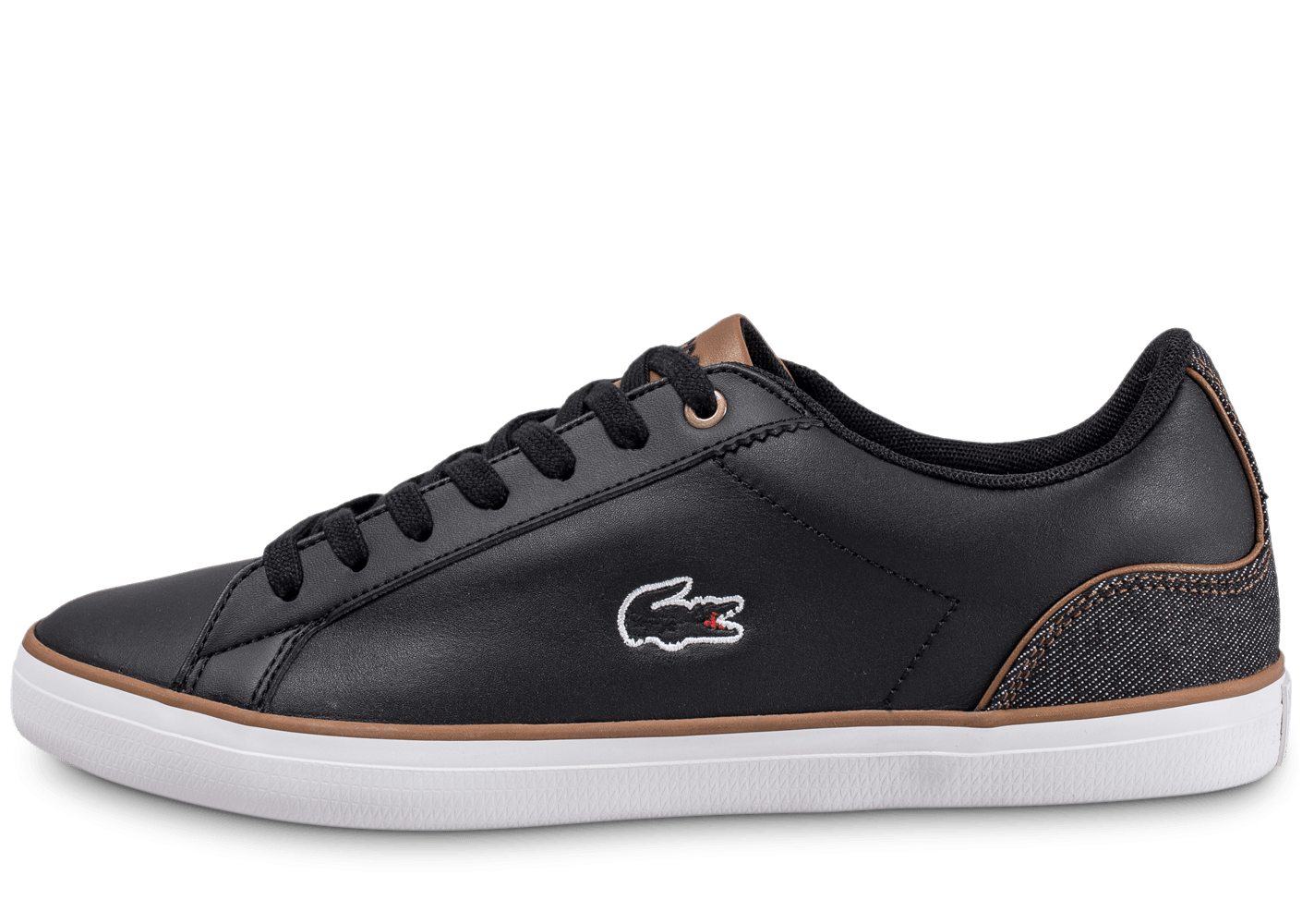 11eeef3ced Noire Baskets Homme Cuir Chaussures Lacoste Lerond Chausport fyY6gvb7