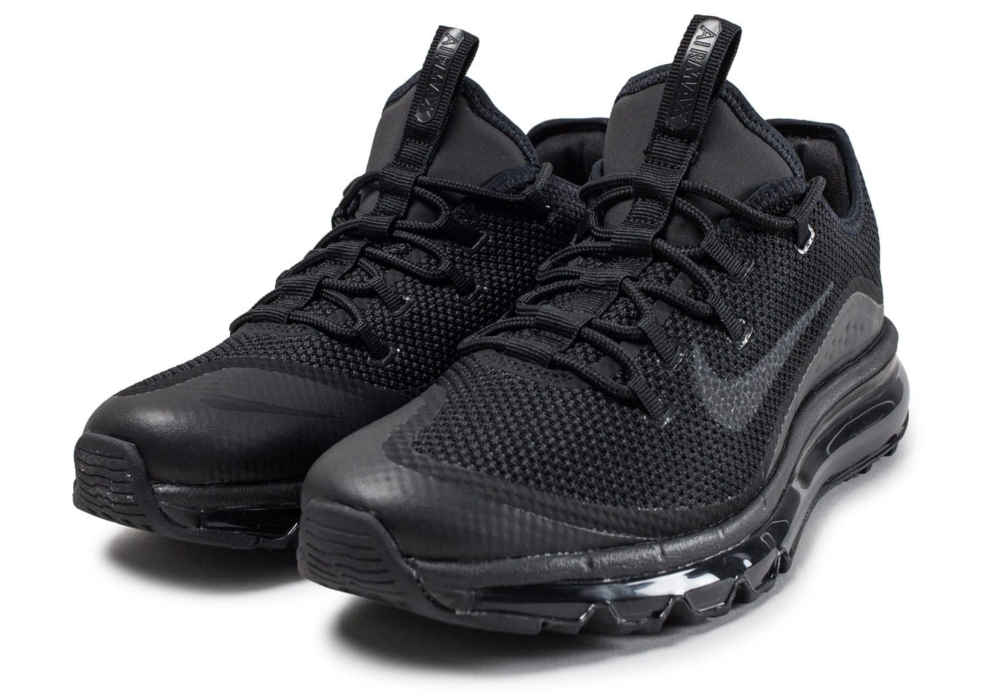 Nike Air Max More Triple Black Chaussures Baskets homme