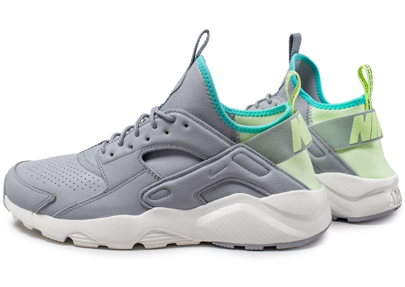 Nike Air Huarache Ultra grise et verte Chaussures Baskets