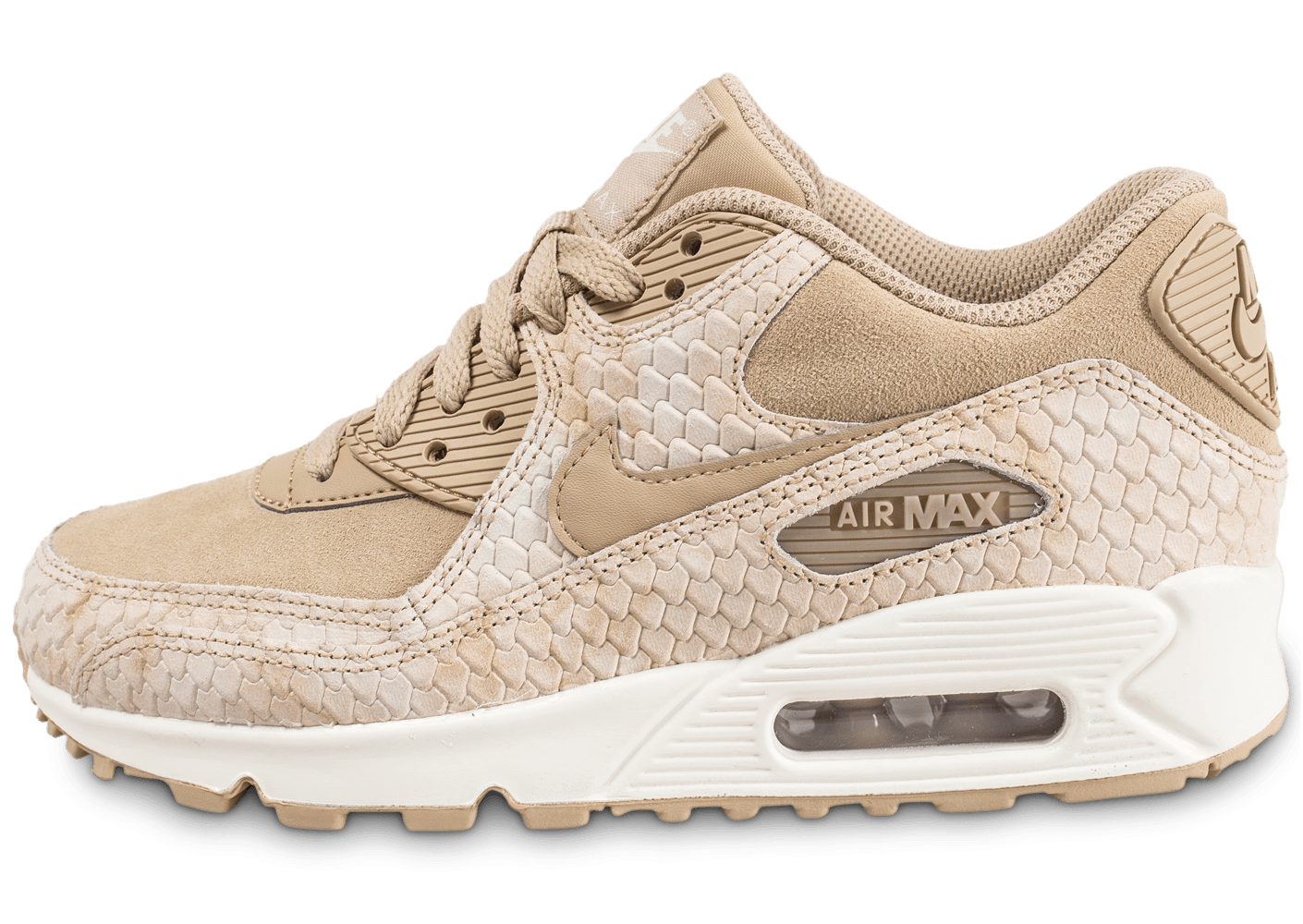reputable site bcd27 486dc Nike Air Max 90 Premium beige - Chaussures Baskets femme - C