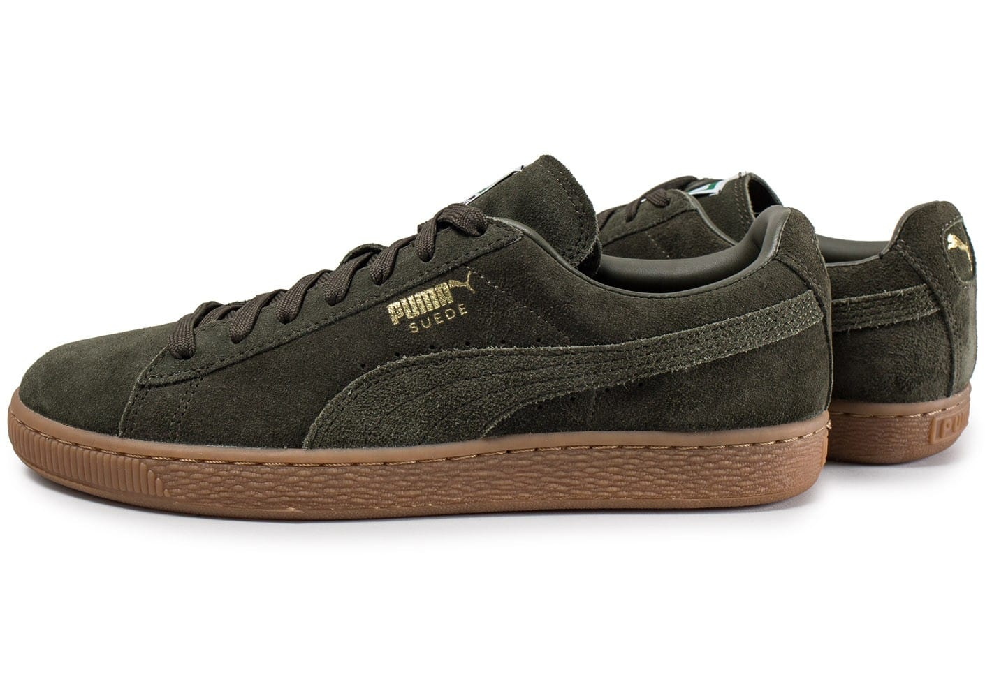 puma suede classic gum verte chaussures baskets homme chausport. Black Bedroom Furniture Sets. Home Design Ideas