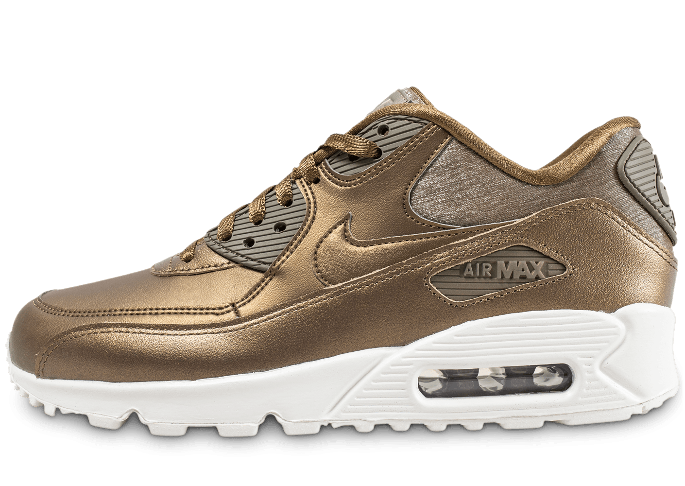buy popular dcf08 9f648 Nike Air Max 90 or - Chaussures Baskets femme - Chausport