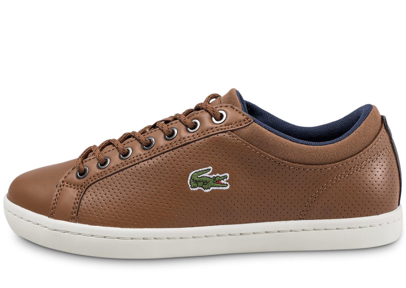 a35ee071fca Lacoste Straightset marron - Chaussures Baskets homme - Chausport