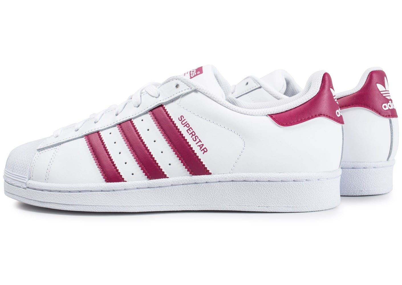adidas superstar blanc et mauve chaussures baskets homme chausport. Black Bedroom Furniture Sets. Home Design Ideas