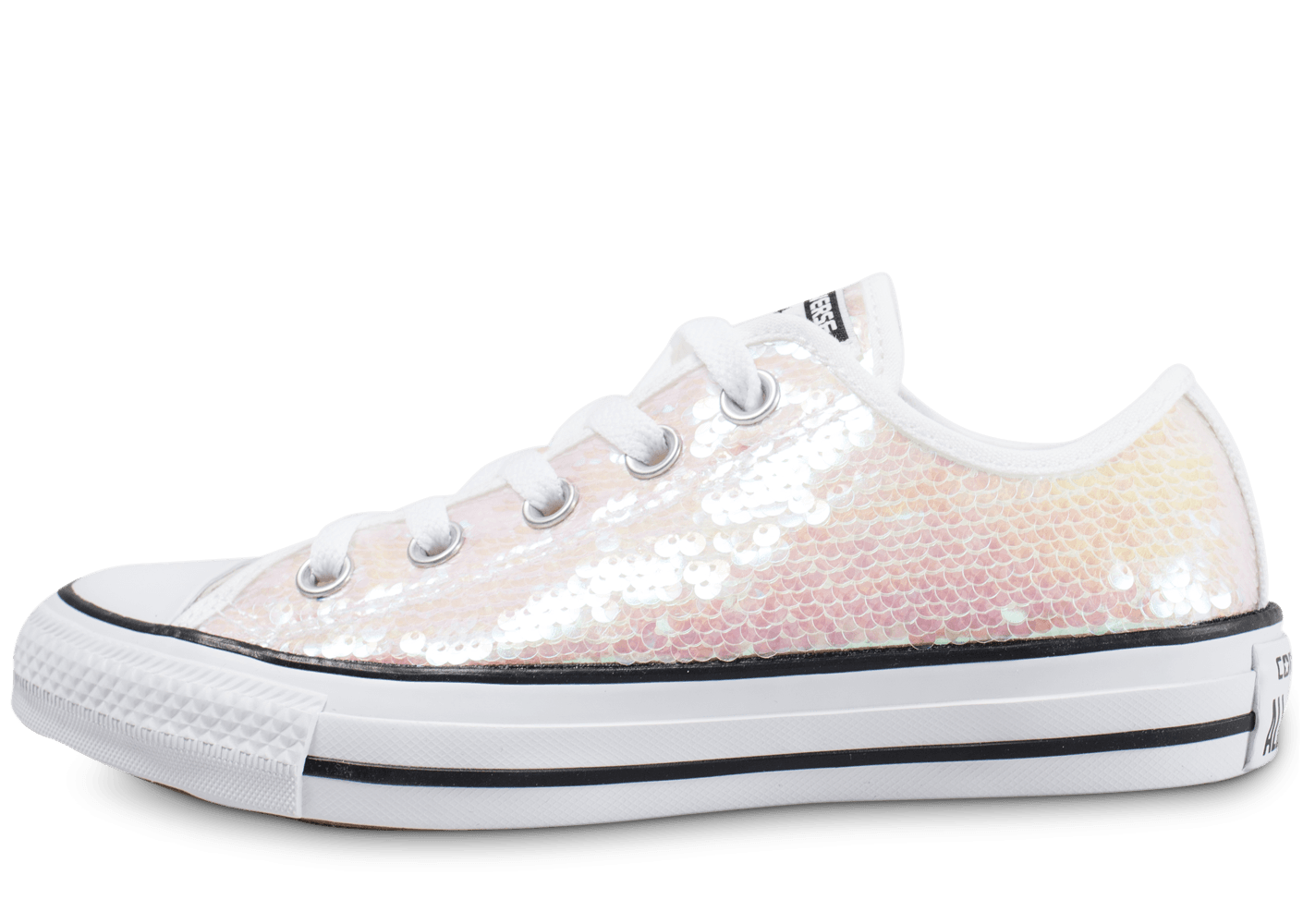 Converse Chuck Taylor All Star Low sequin blanc