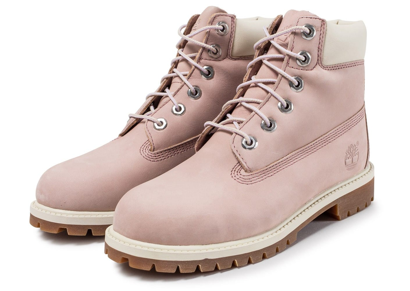 timberland rose et blanche