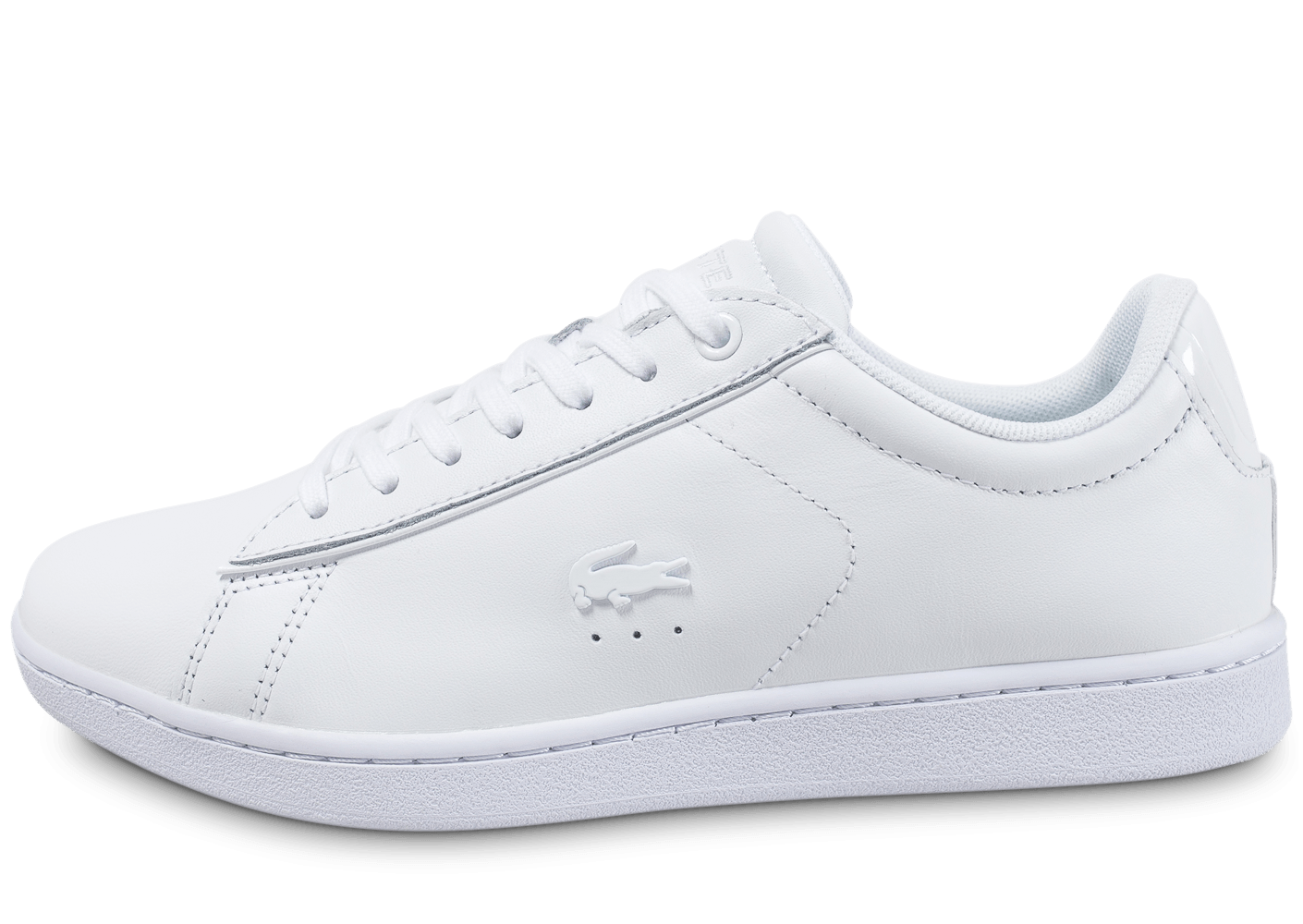 49edc16fbc Lacoste Carnaby Evo 417 SPW blanche - Chaussures Baskets femme - Chausport