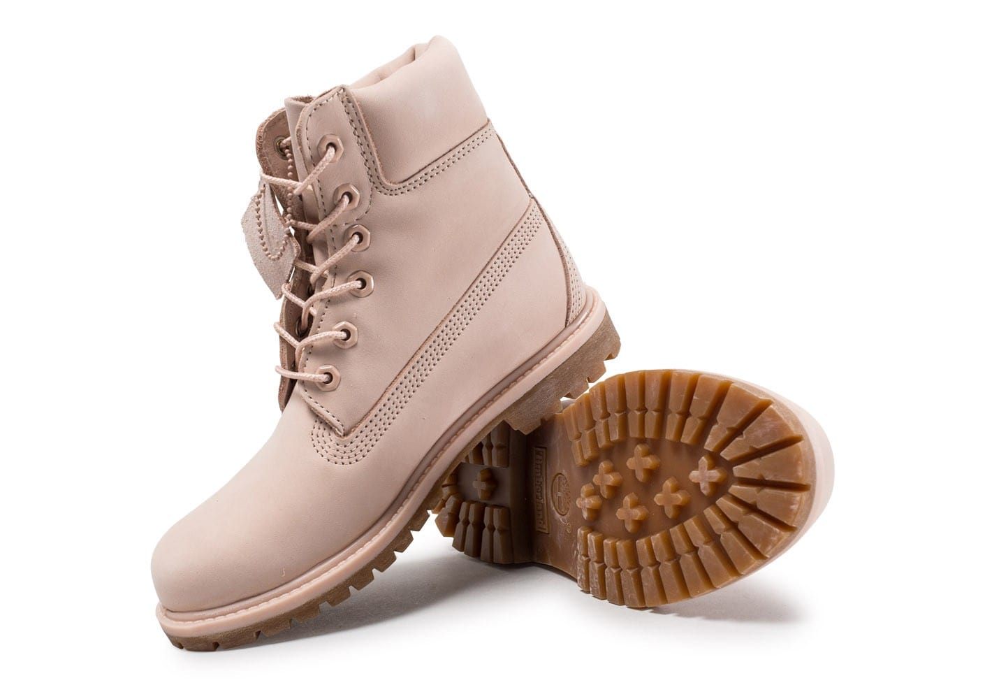 Timberland 6 inch Premium Boots rose Chaussures Baskets