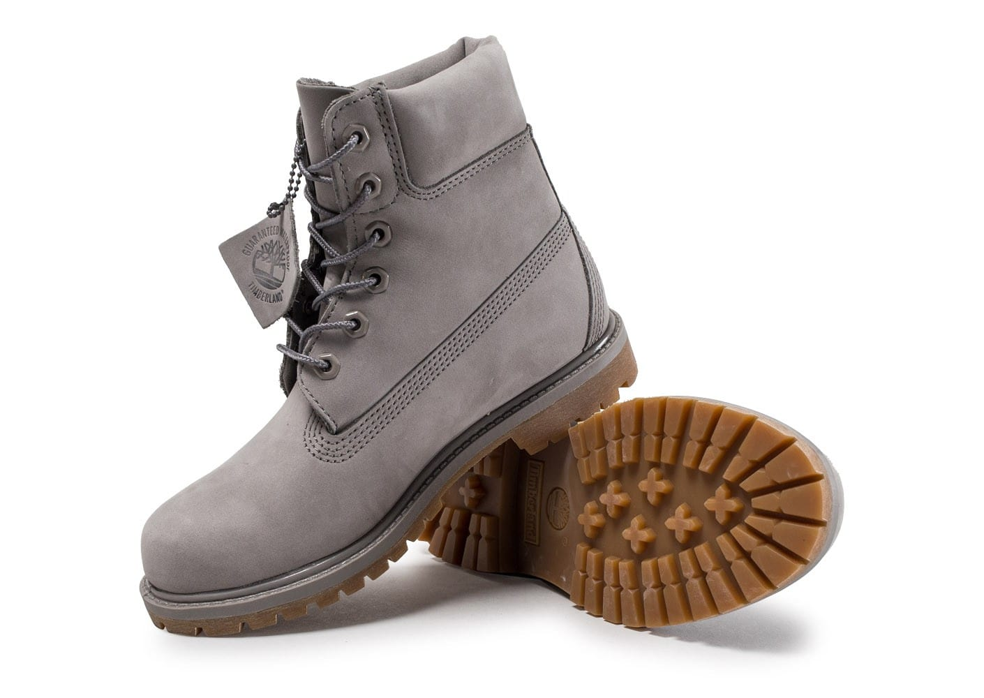 timberland 6 inch premium boots grise chaussures baskets femme chausport. Black Bedroom Furniture Sets. Home Design Ideas