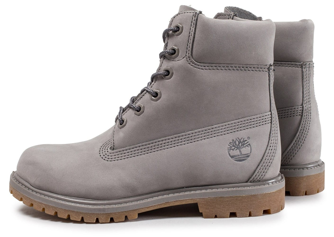 timberland femme grise et blanche