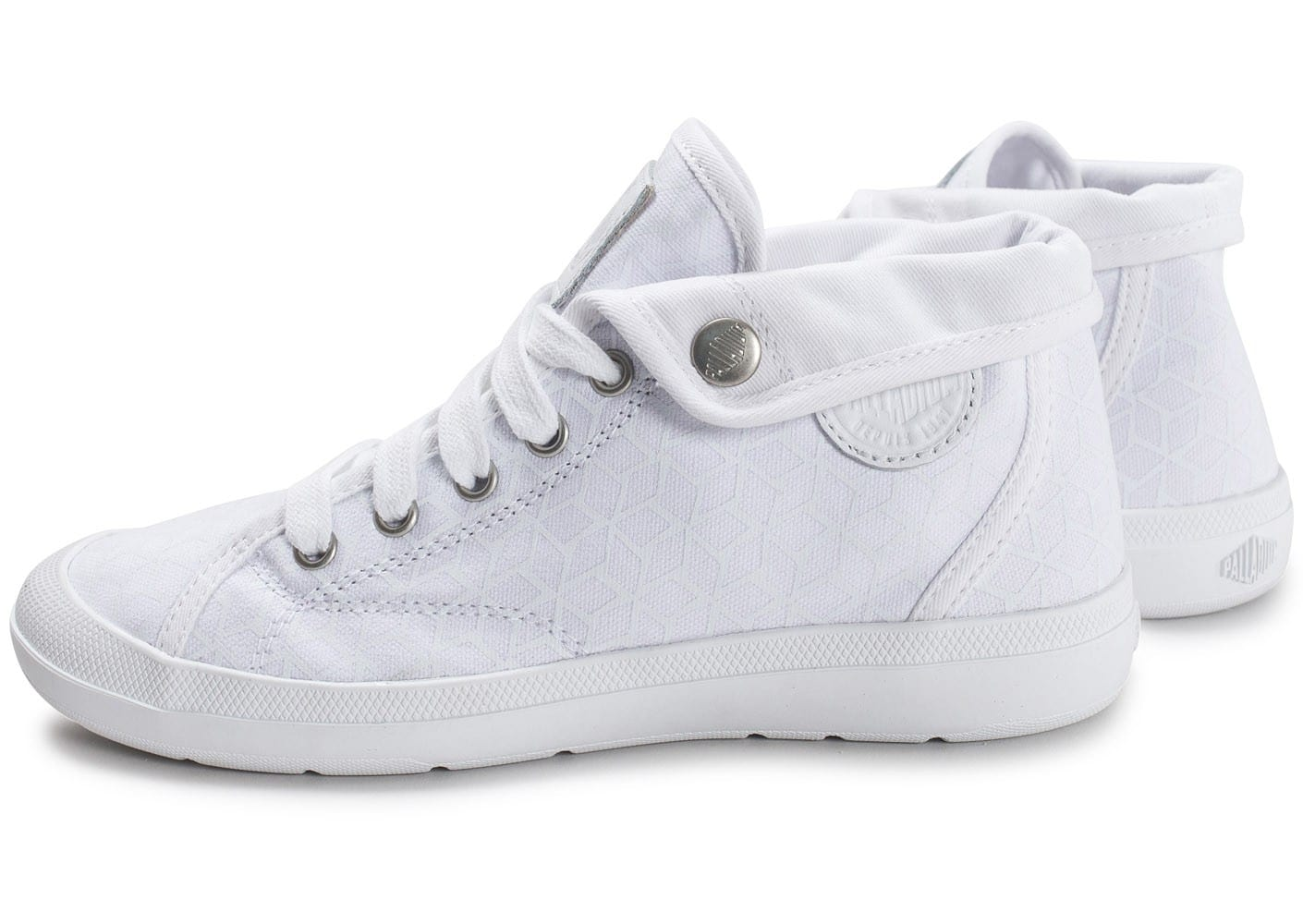 Palladium Adventure Mid blanche Chaussures Baskets femme