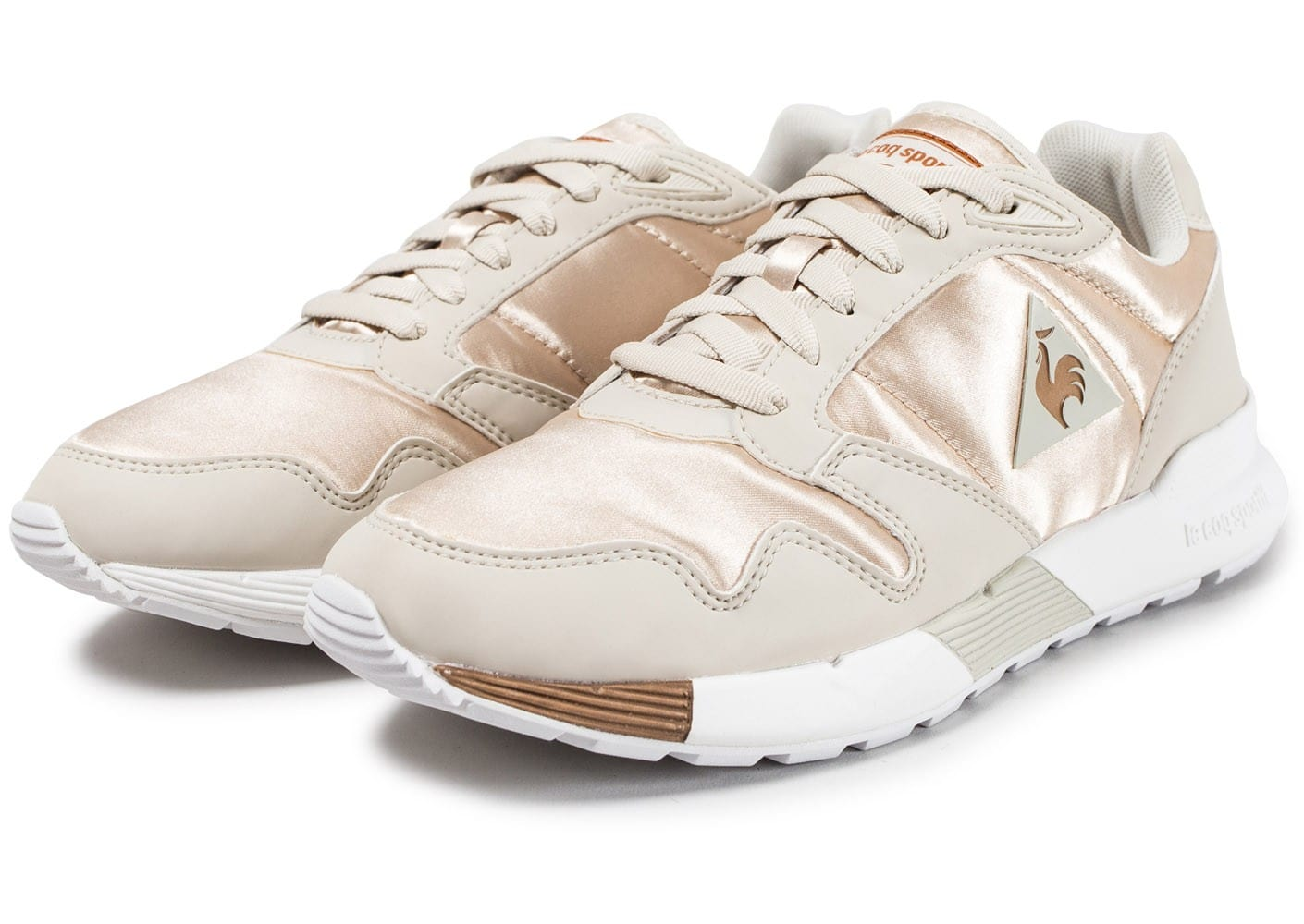 W X Cuivre Chaussures Le Baskets Femme Sportif Coq Omega Satin Yby7vf6g