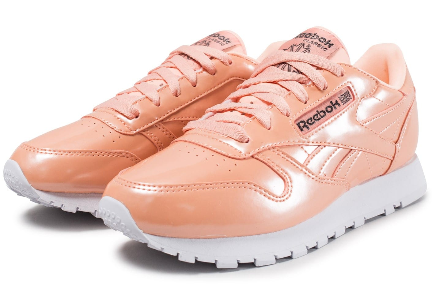 Reebok Classic Leather PP orange Chaussures Baskets femme