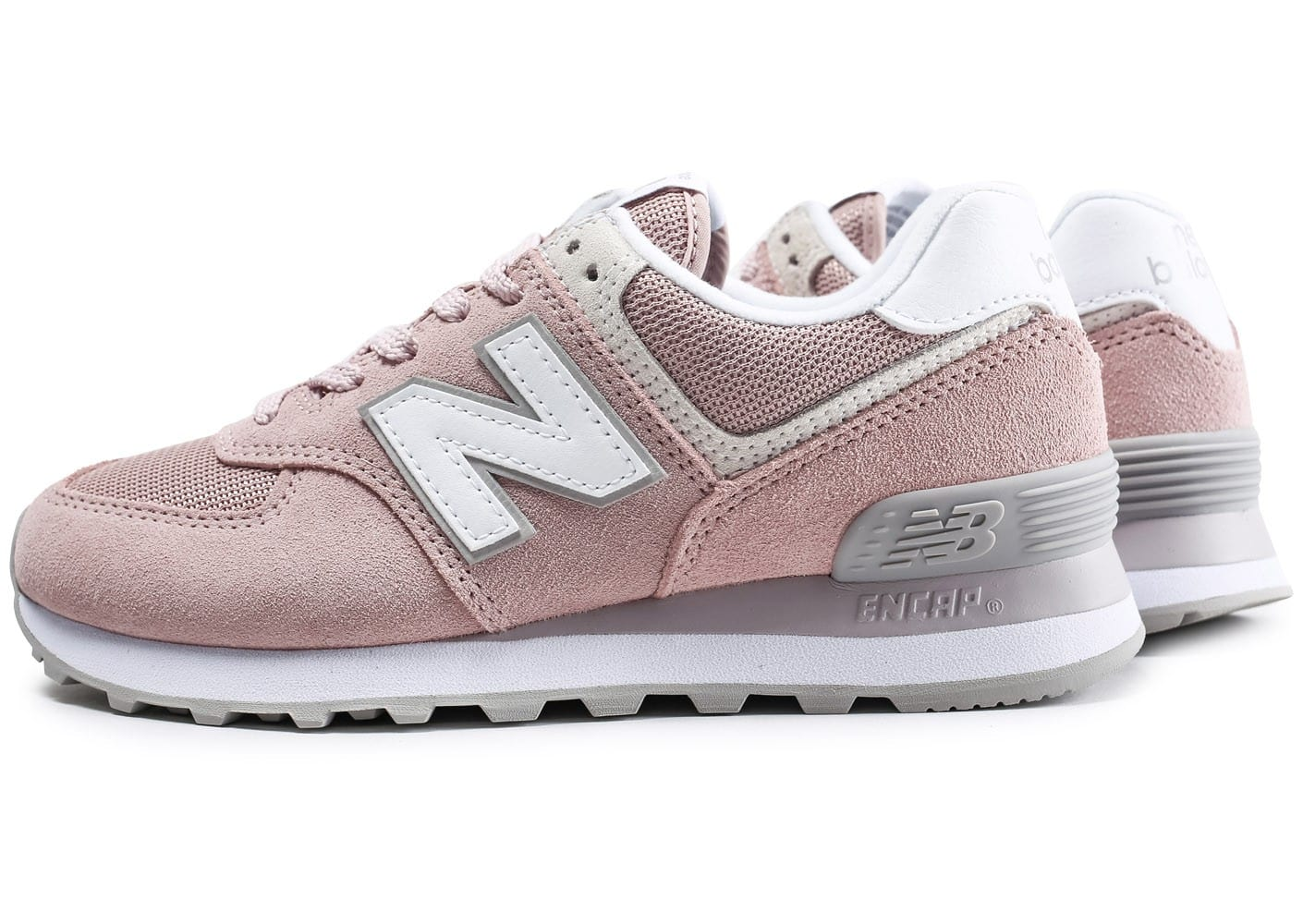 New Balance 574 Rose - Chaussures Baskets basses Femme