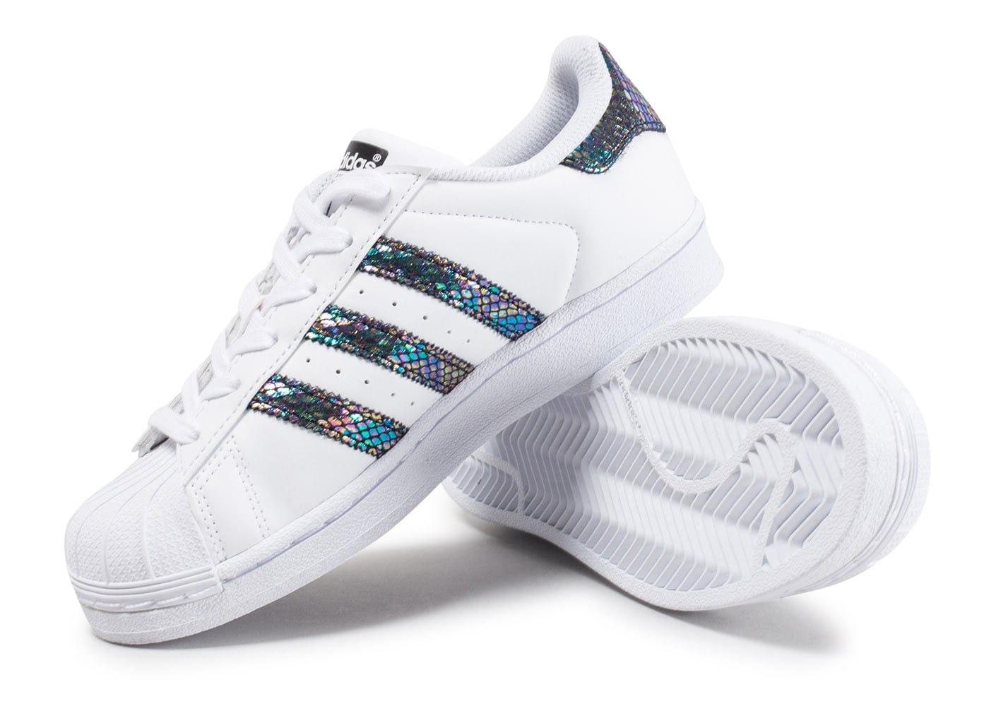 ... Chaussures adidas Superstar Metallic Snake Junior vue avant ...