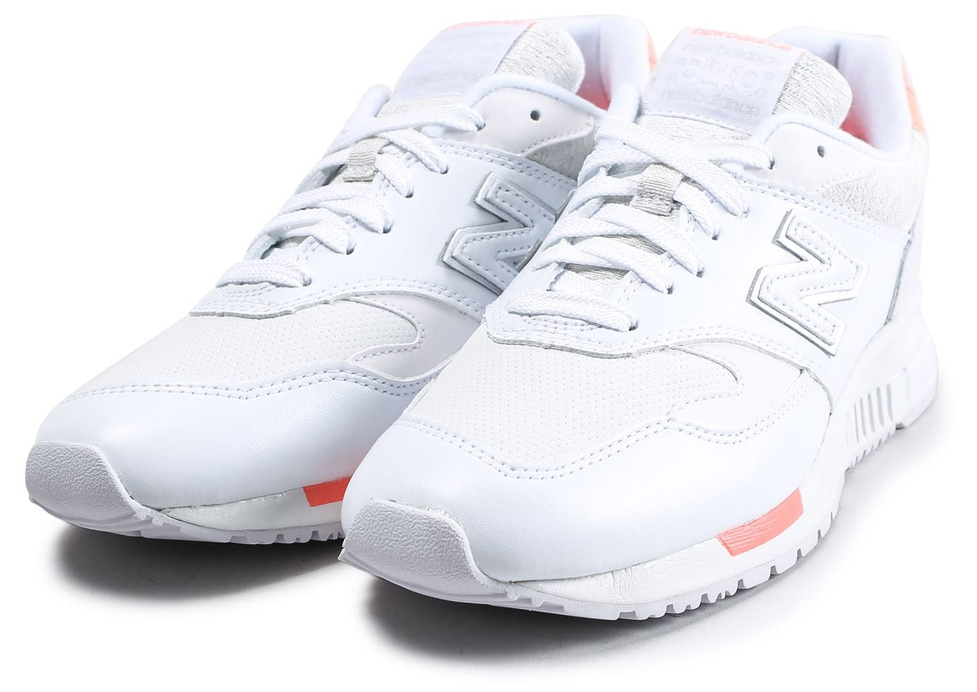 New Balance WL840WF Suede blanche et rose Chaussures