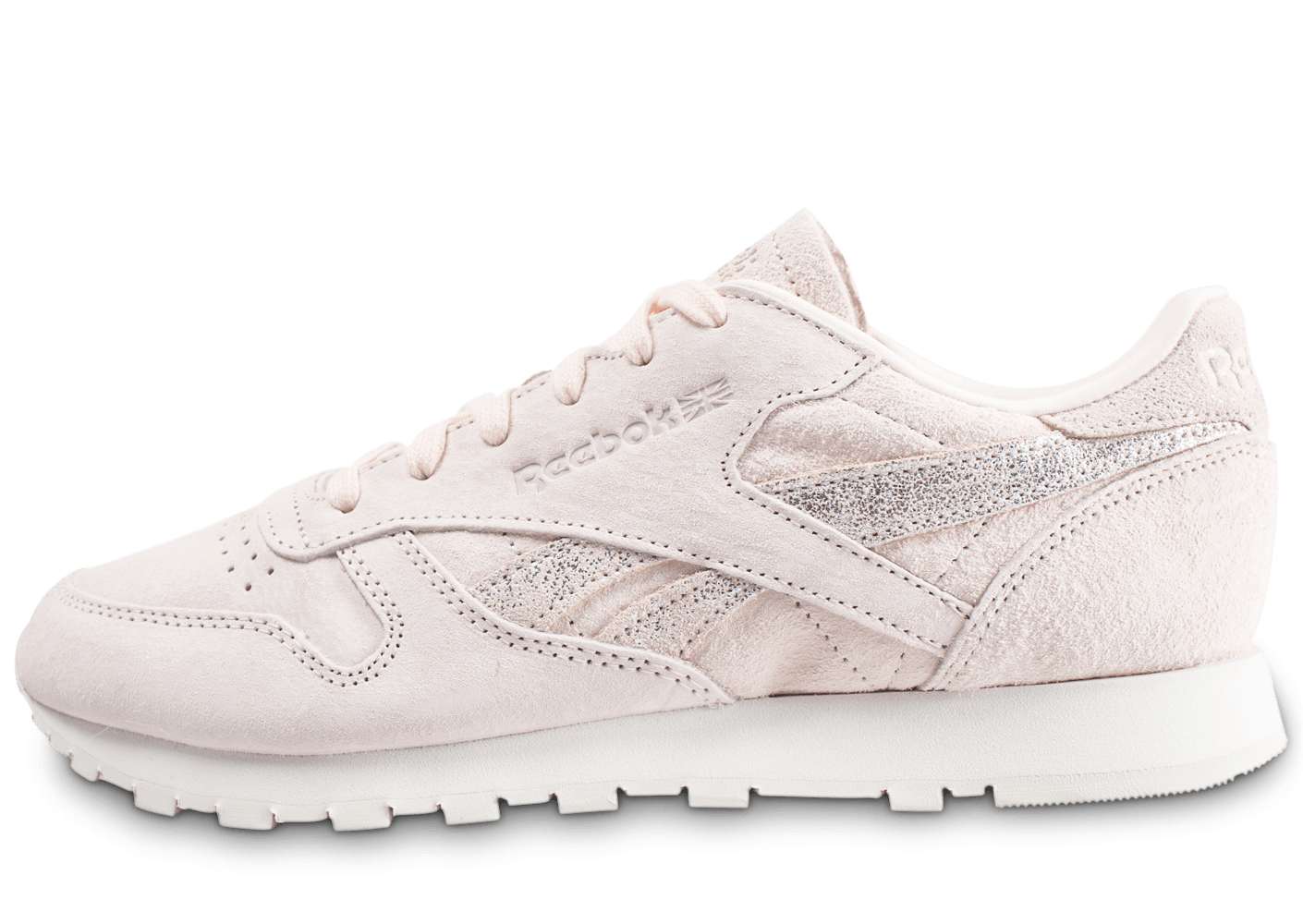 Shimmer Baskets Femme Rose Leather Reebok Classic Chaussures tdsrhQC