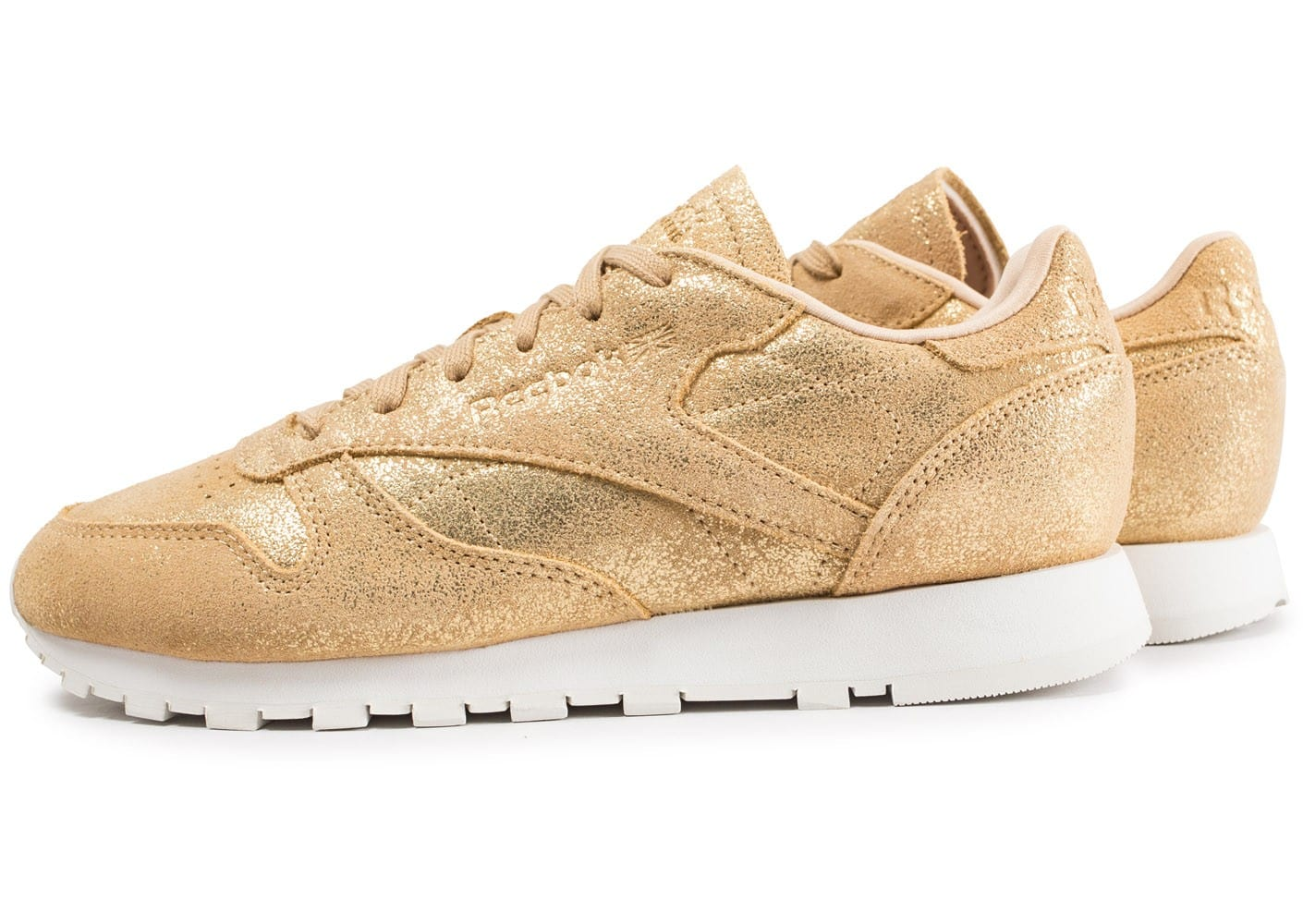 Reebok Leather Les Toutes Shimmer Baskets Or Classic Chaussures rpg5qnSrw