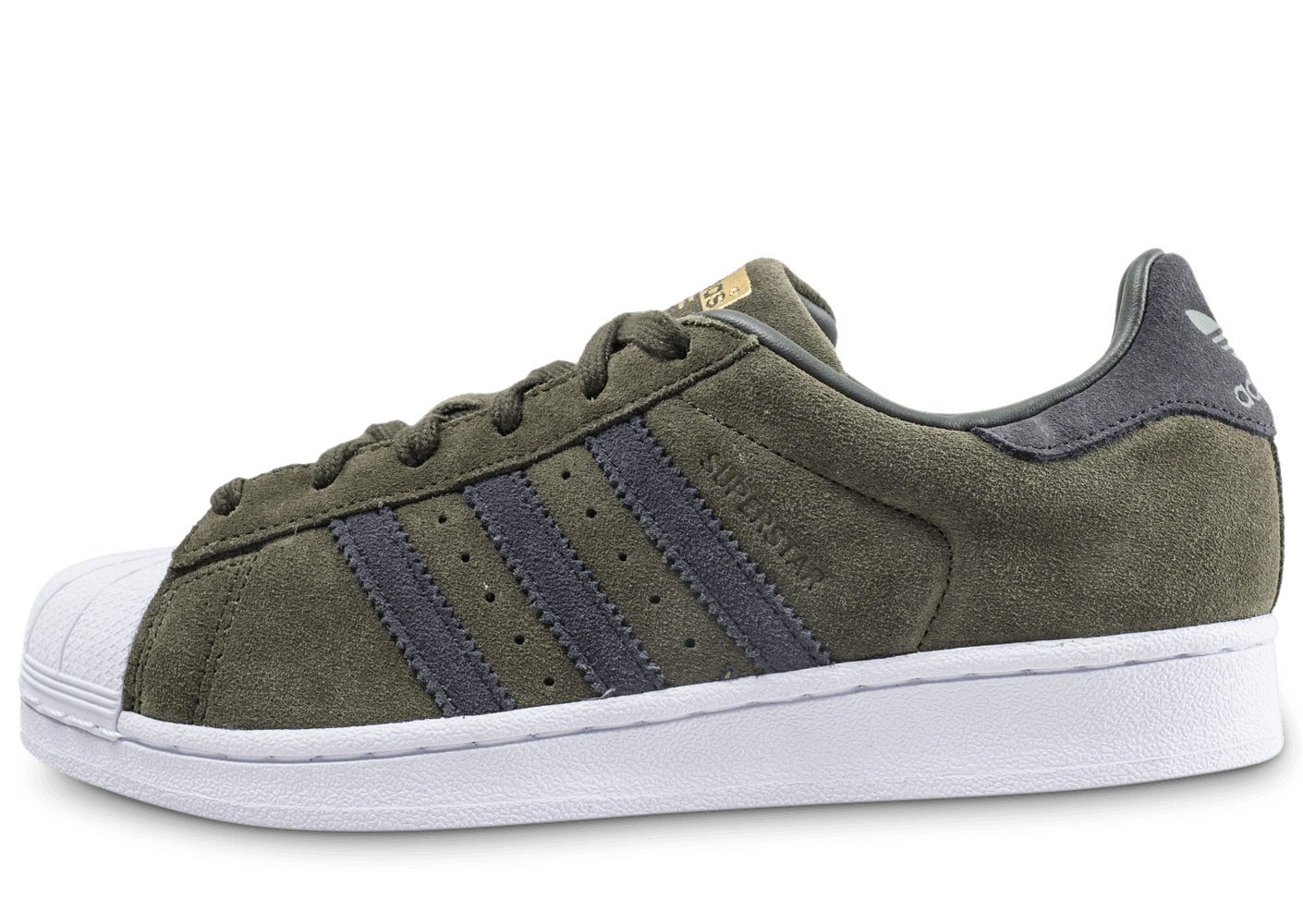adidas Superstar kaki et rose