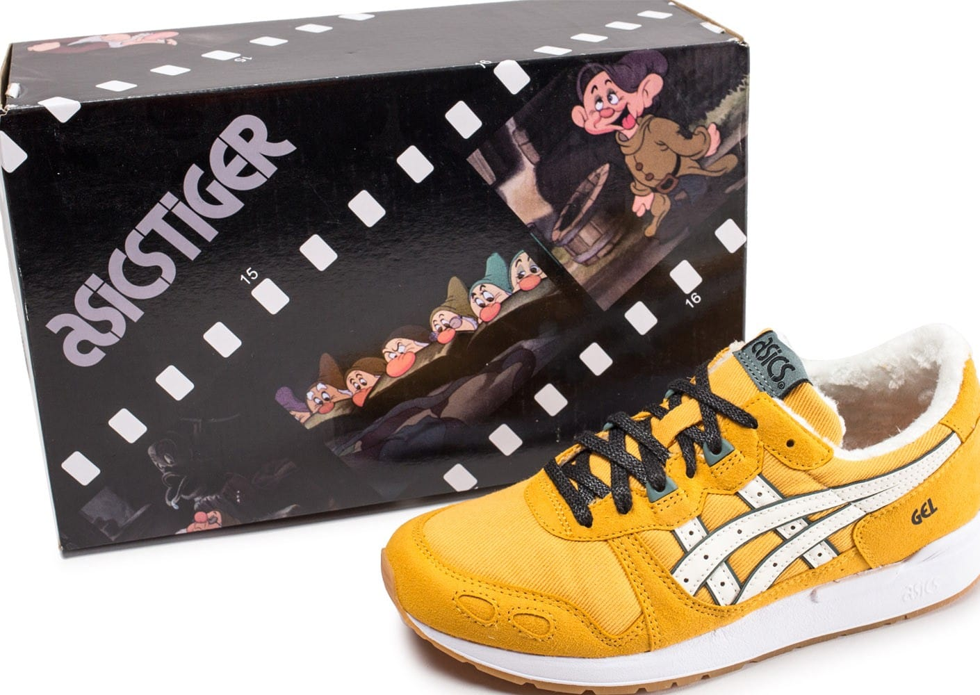 Timide femme Lyte Chaussures Gel Asics Baskets jaune junior