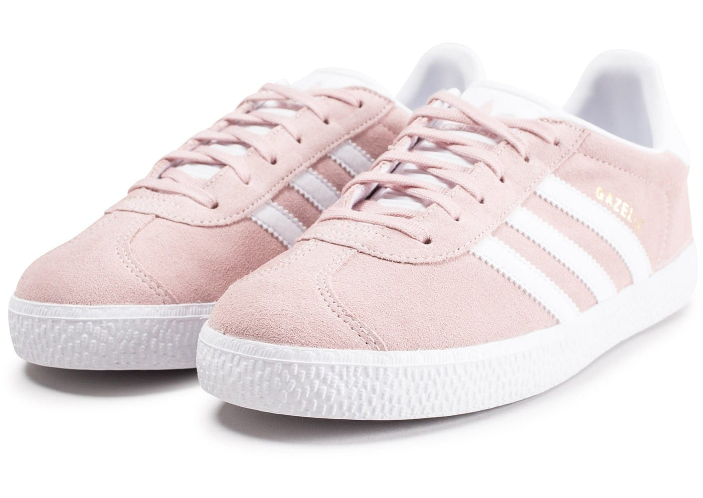 adidas gazelle junior rose et blanche chaussures adidas chausport. Black Bedroom Furniture Sets. Home Design Ideas
