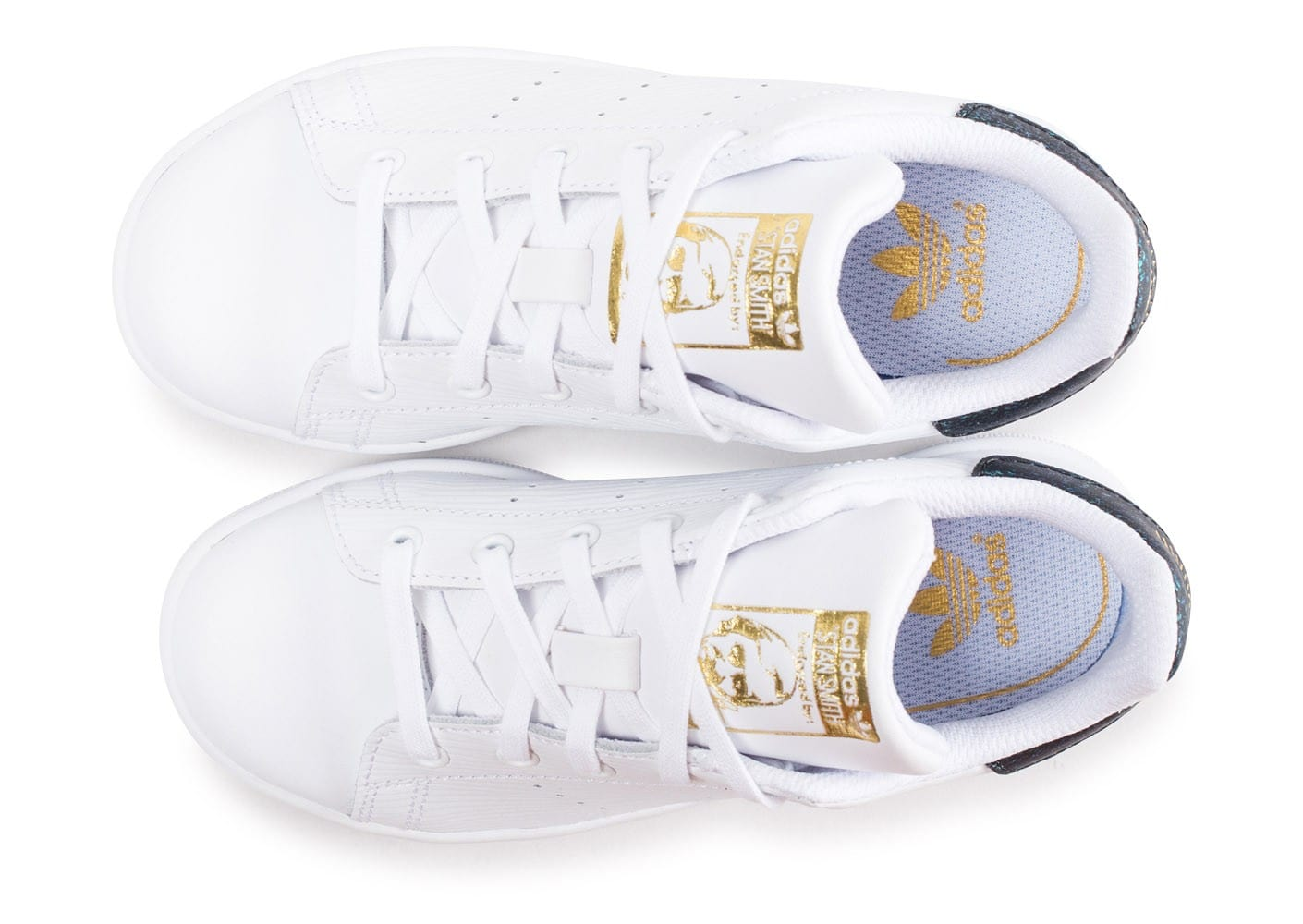 adidas Stan Smith enfant blanche et verte brillant