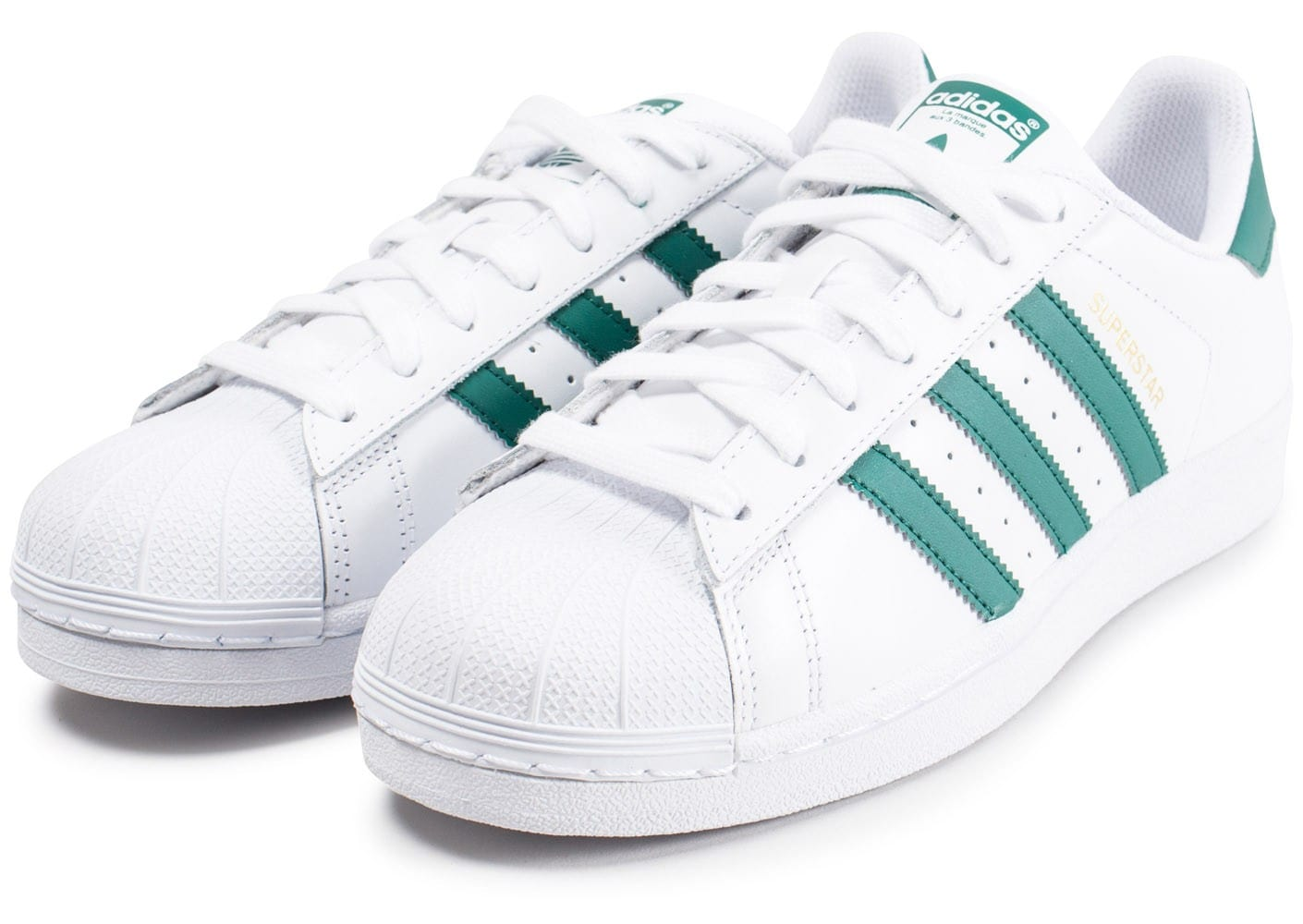 adidas superstar blanche et verte chaussures baskets homme chausport. Black Bedroom Furniture Sets. Home Design Ideas