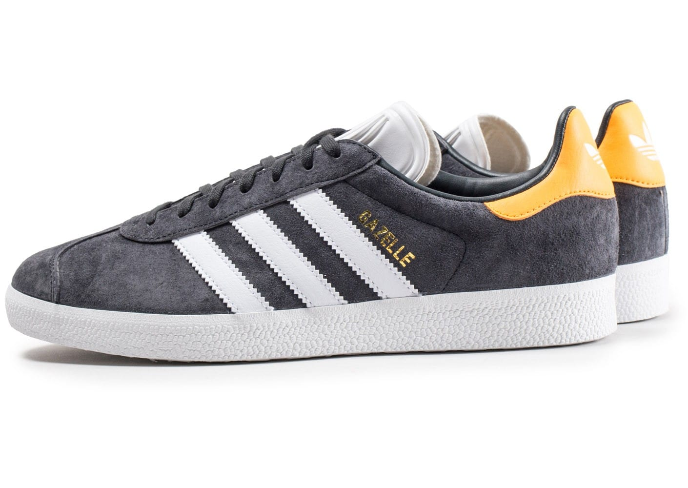 adidas gazelle grise fonc et jaune chaussures baskets homme chausport. Black Bedroom Furniture Sets. Home Design Ideas