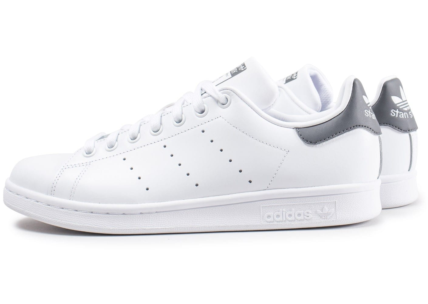 adidas stan smith blanche et grise fonc chaussures baskets homme chausport. Black Bedroom Furniture Sets. Home Design Ideas