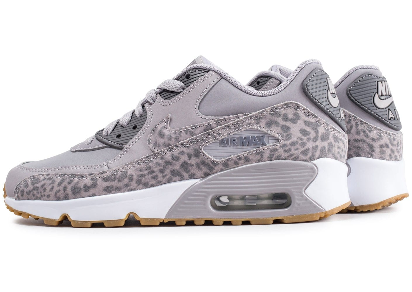 Nike Air Max 90 Animal Junior léopard grise - Chaussures ...