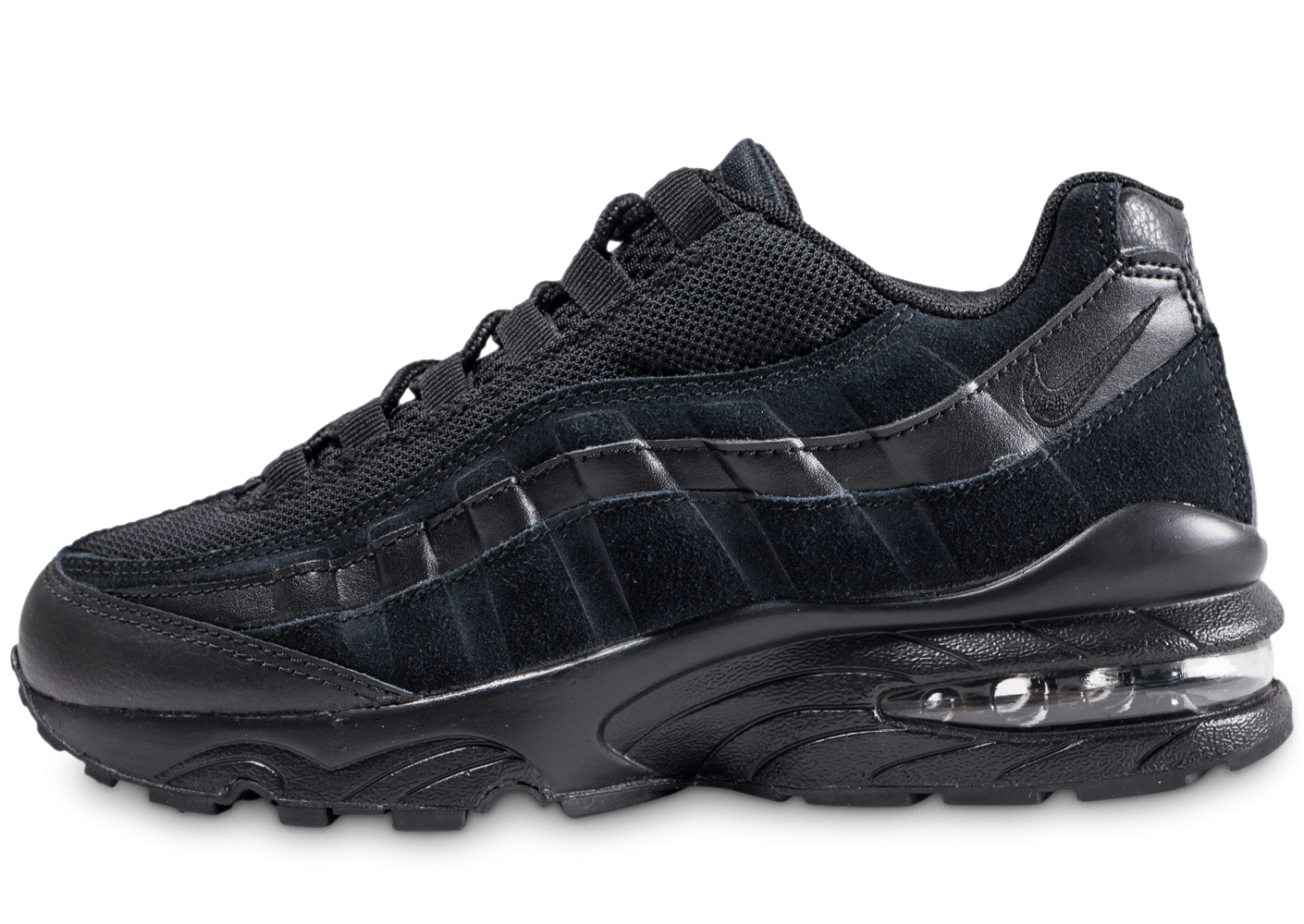 nike air max 95 junior noire chaussures enfant chausport. Black Bedroom Furniture Sets. Home Design Ideas