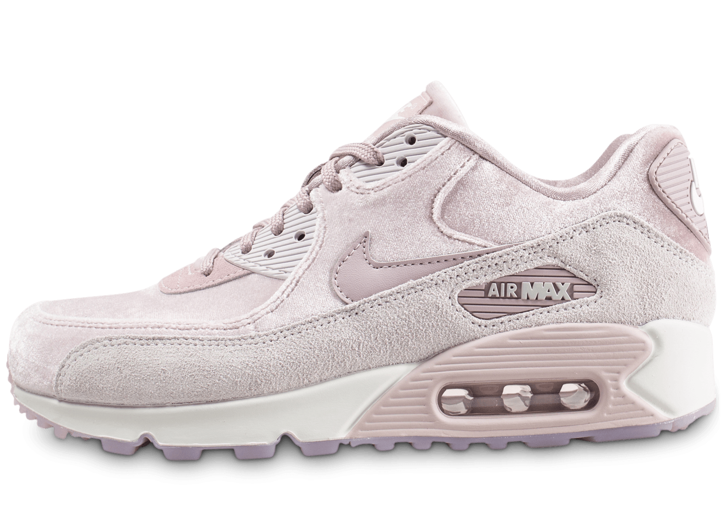 design intemporel d9d75 cc52a Nike Air Max 90 velours rose