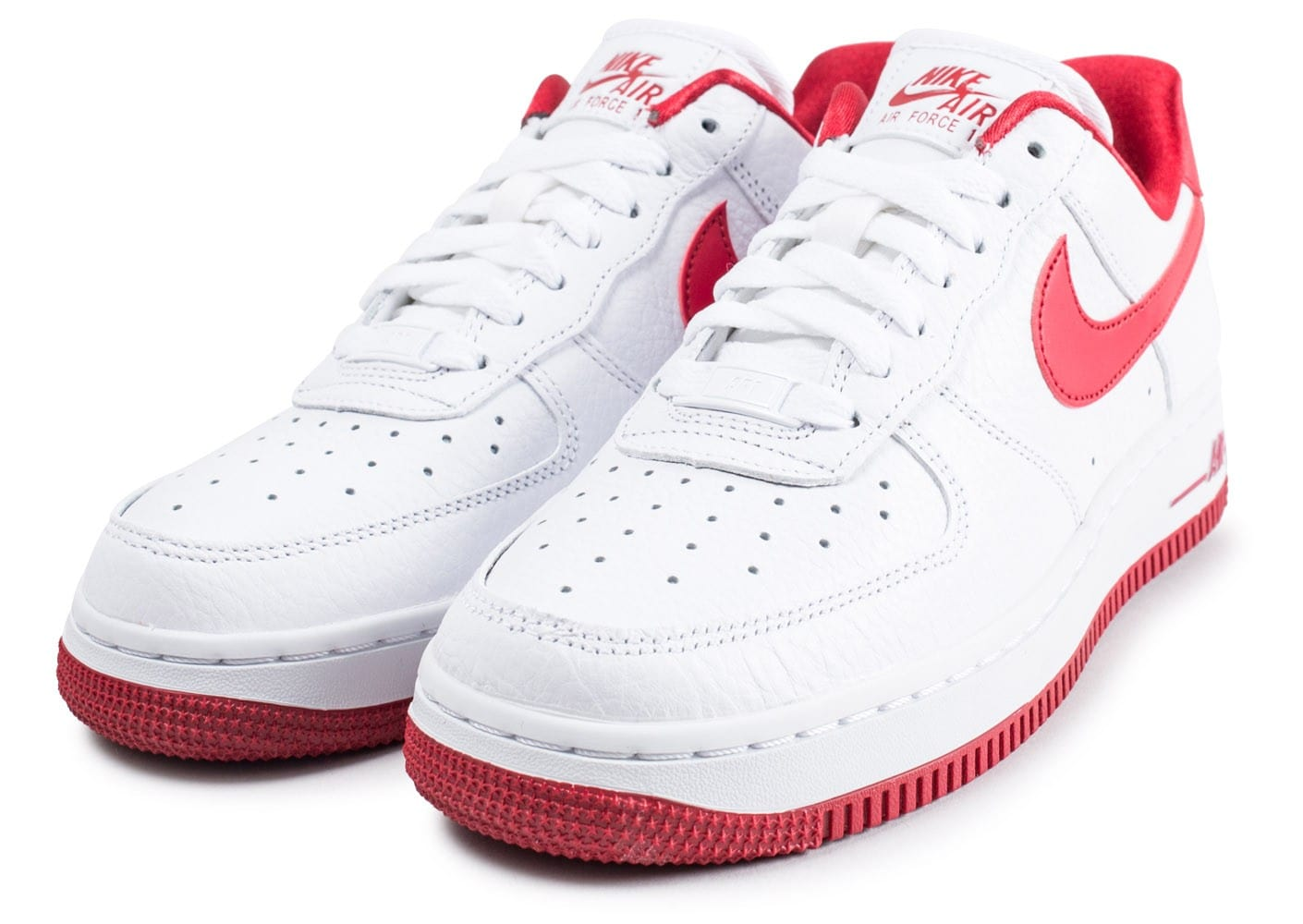 nike air force 1 low blanche et rouge chaussures baskets. Black Bedroom Furniture Sets. Home Design Ideas