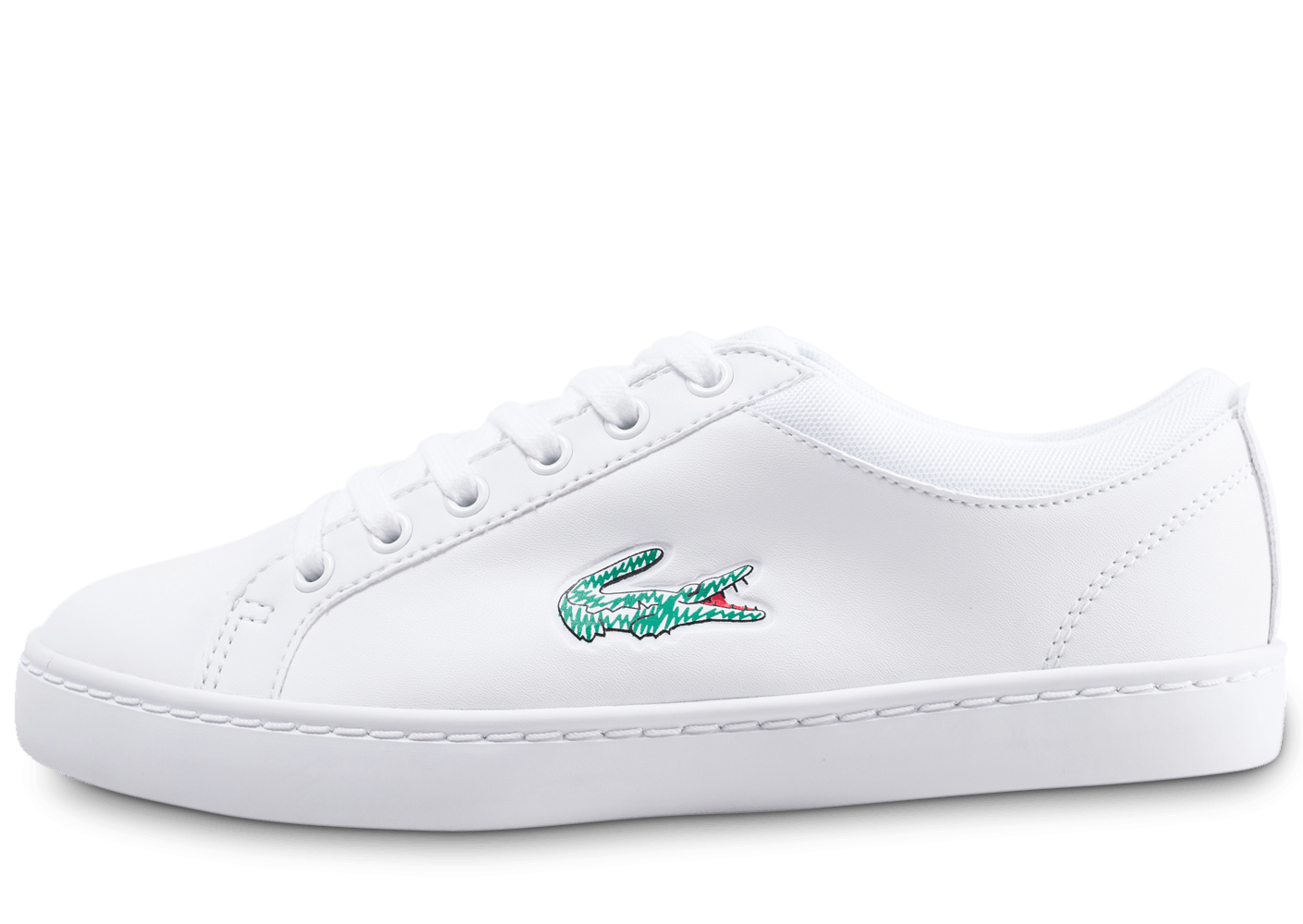 2632e4a378f Lacoste Straightset junior blanche - Chaussures Enfant - Chausport