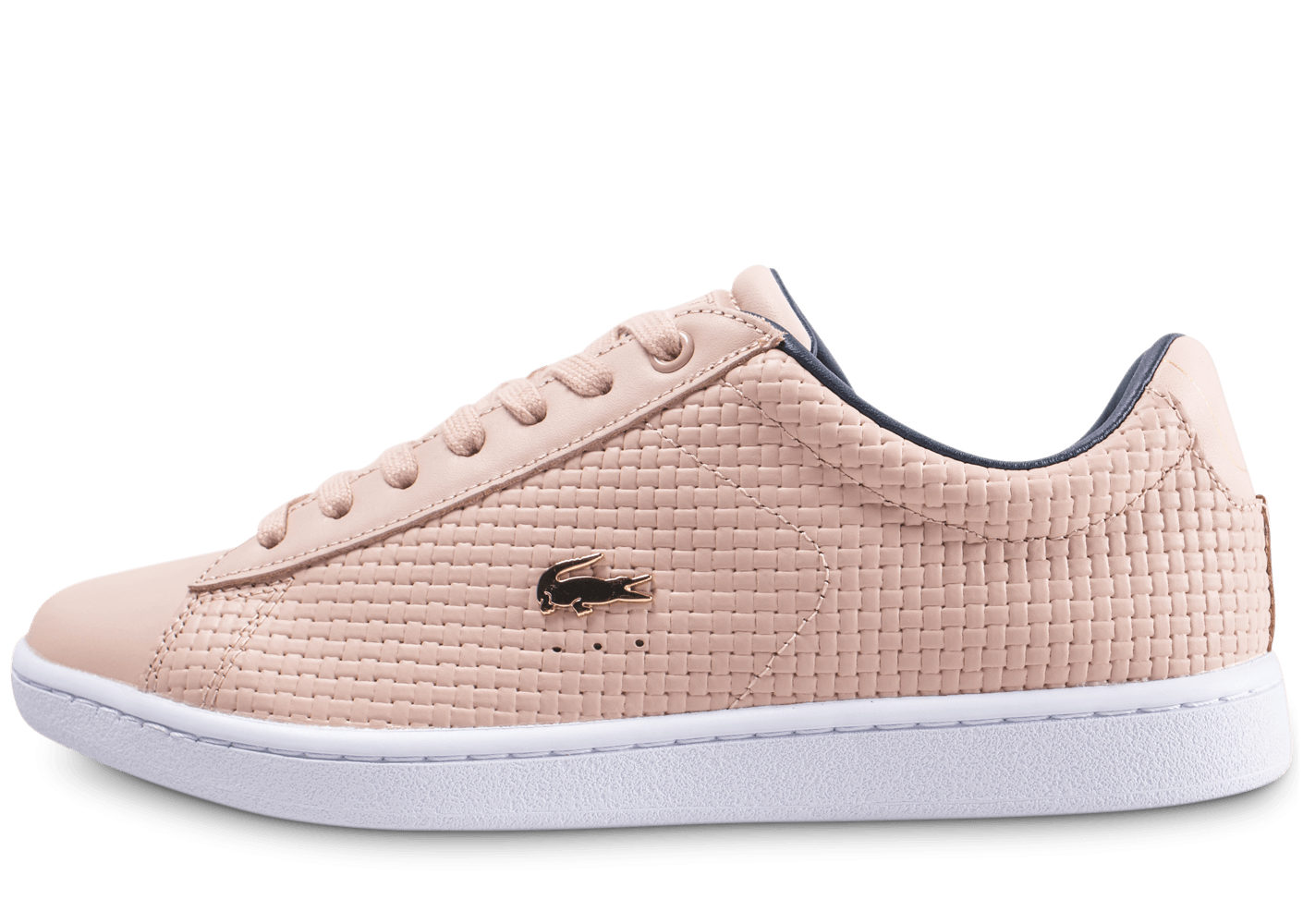 bcfd4672cf Lacoste Carnaby Evo rose - Chaussures Baskets femme - Chausport