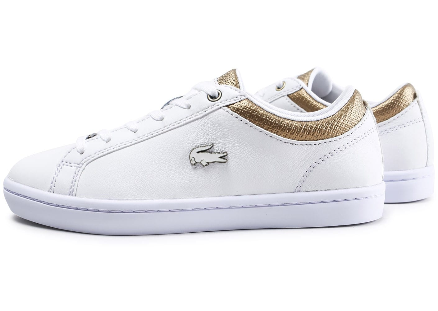 Straightset Chausport Or Et Baskets Chaussures Femme Lacoste Blanche Pkn0wO