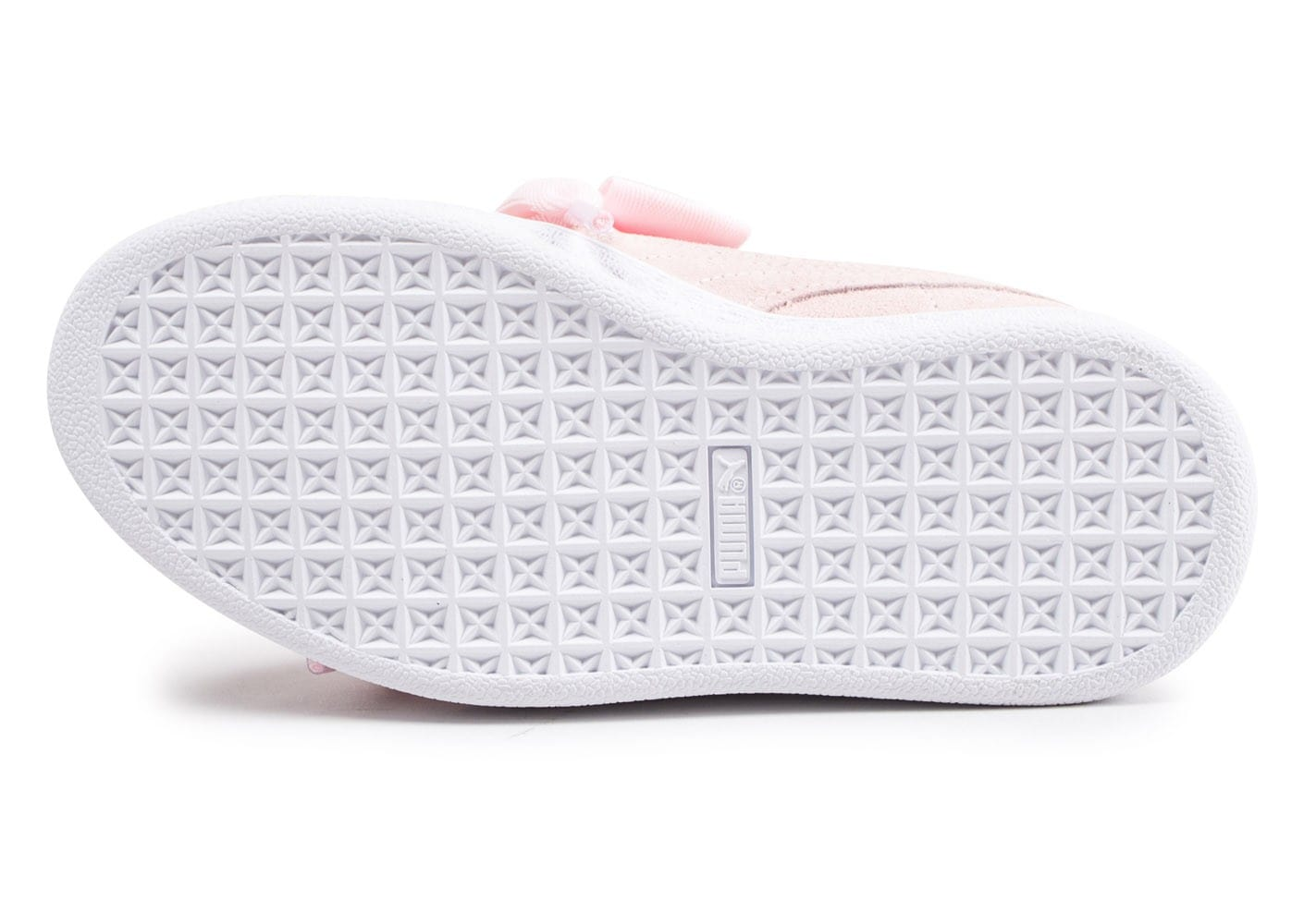 basket puma heart rose pale