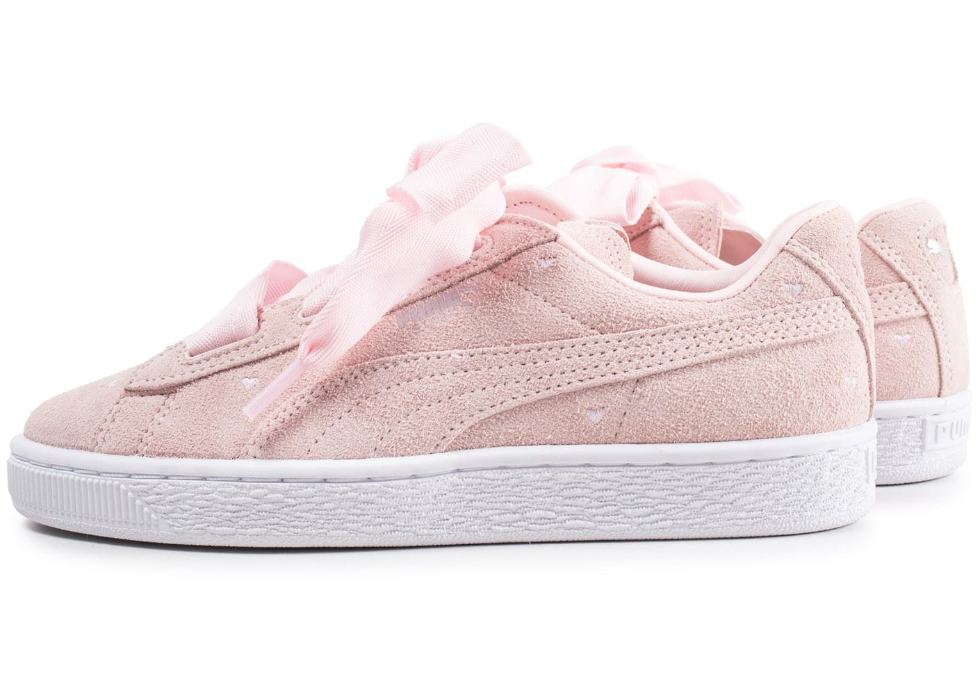 puma heart rose pale