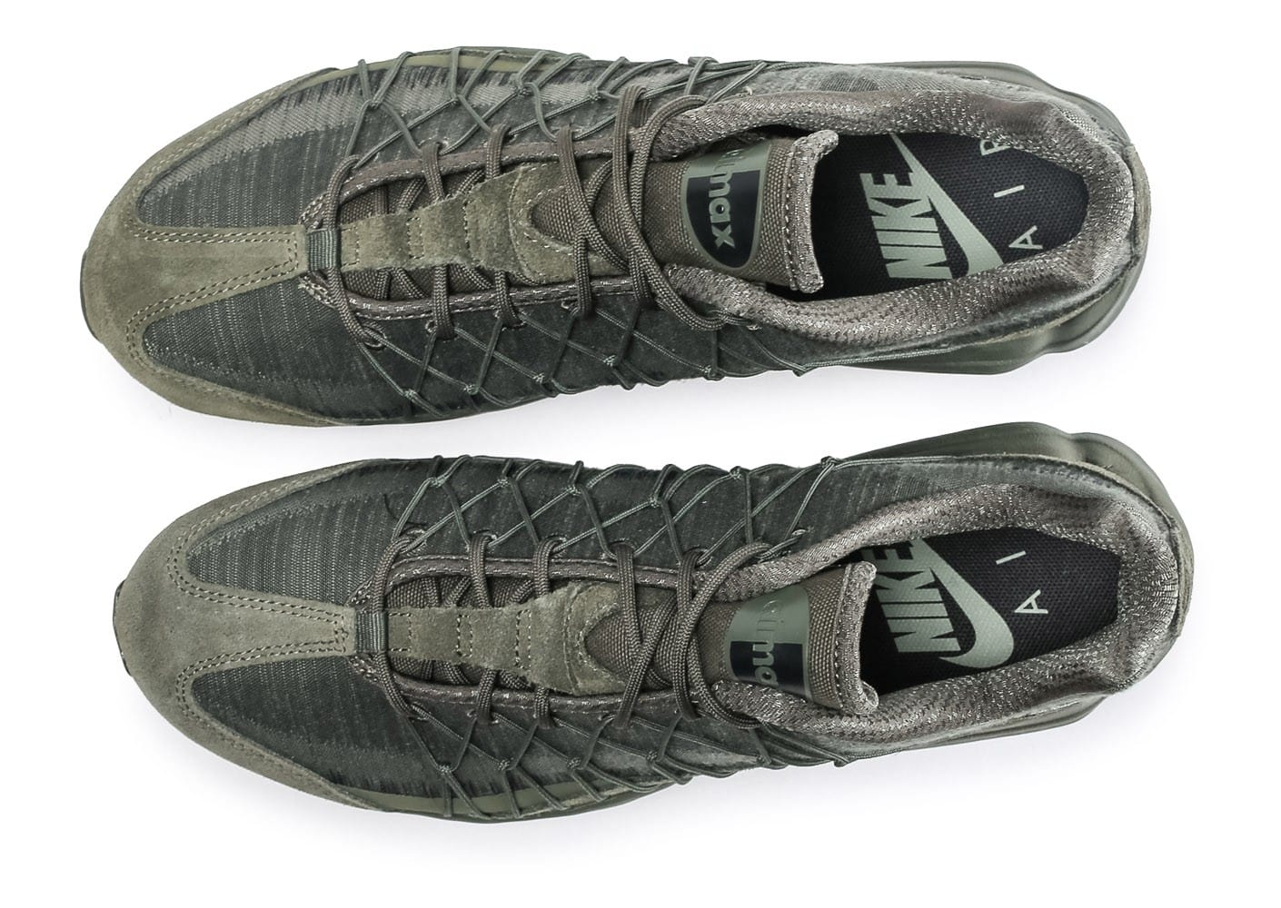 new product d766a 50636 ... Chaussures Nike Air Max 95 Ultra Jacquard kaki vue arrière ...