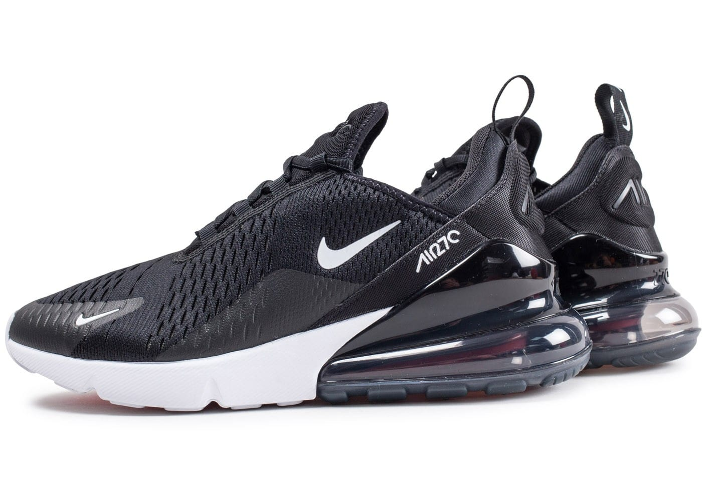 nike air max 270 noire et blanche chaussures baskets homme chausport. Black Bedroom Furniture Sets. Home Design Ideas