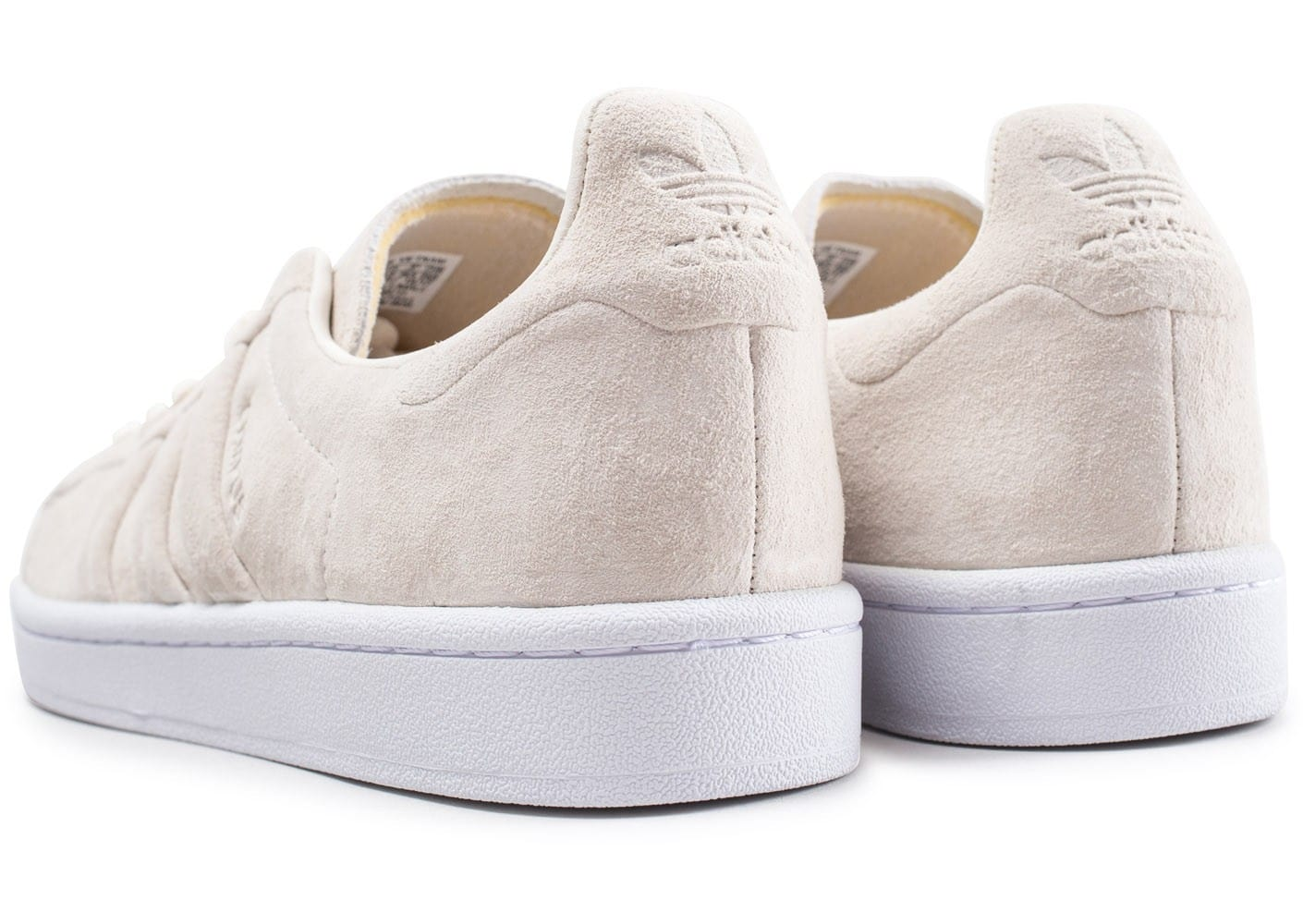 online store 39687 4d71f ... Chaussures adidas Campus Stitch and Turn beige vue dessous ...
