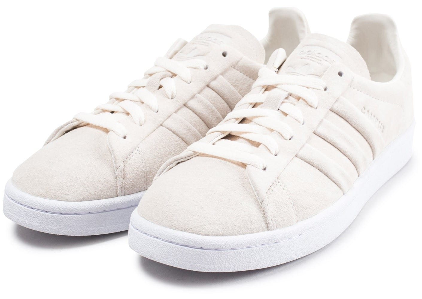 buy online e2937 f63dc ... Chaussures adidas Campus Stitch and Turn beige vue intérieure ...