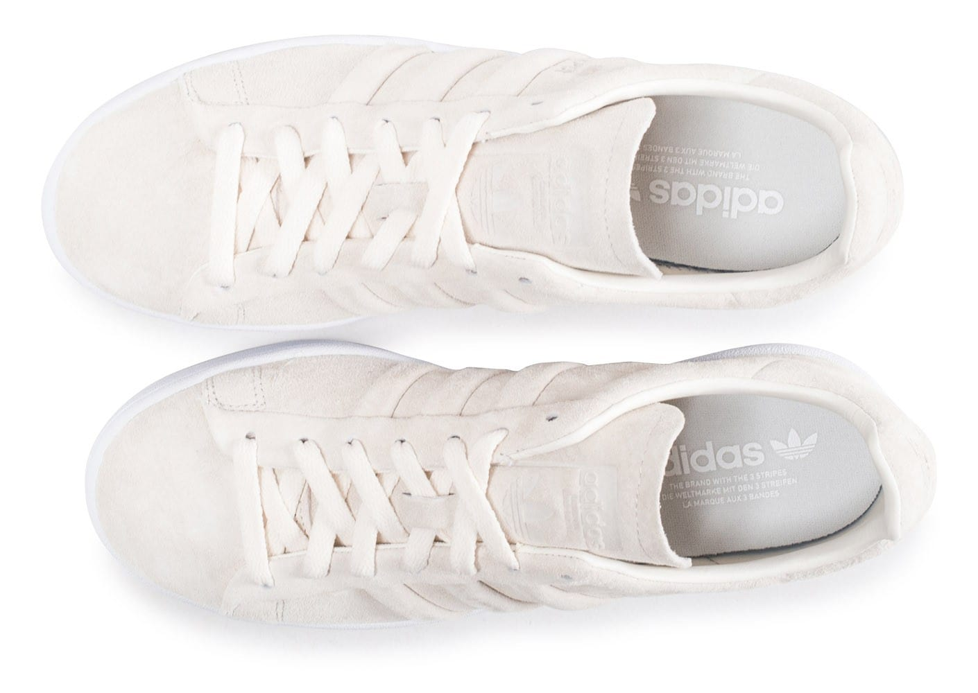 buy cheap a43ad e4005 ... Chaussures adidas Campus Stitch and Turn beige vue arrière ...