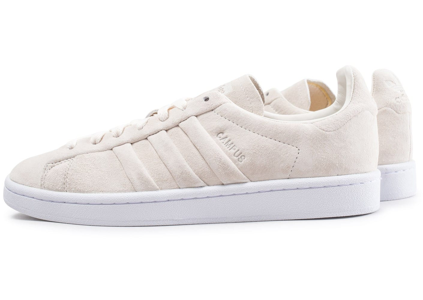 huge selection of c3b7d b4334 Cliquez pour zoomer Chaussures adidas Campus Stitch and Turn beige vue  extérieure ...