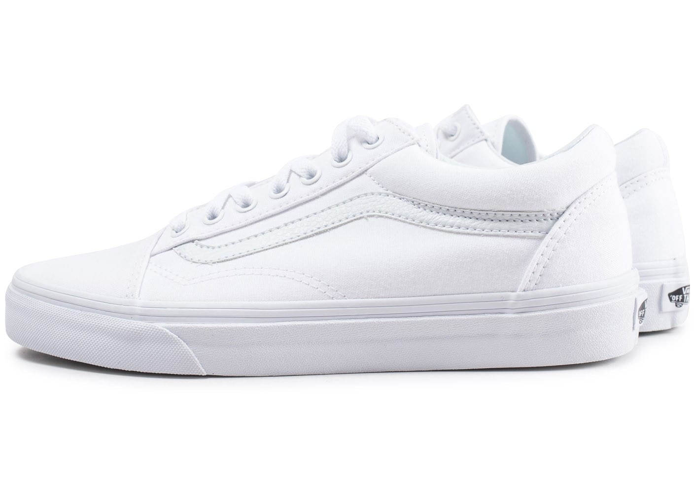 old skool vans blanc