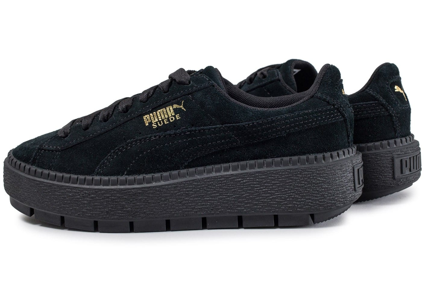 puma suede platform trace noire chaussures baskets femme chausport. Black Bedroom Furniture Sets. Home Design Ideas